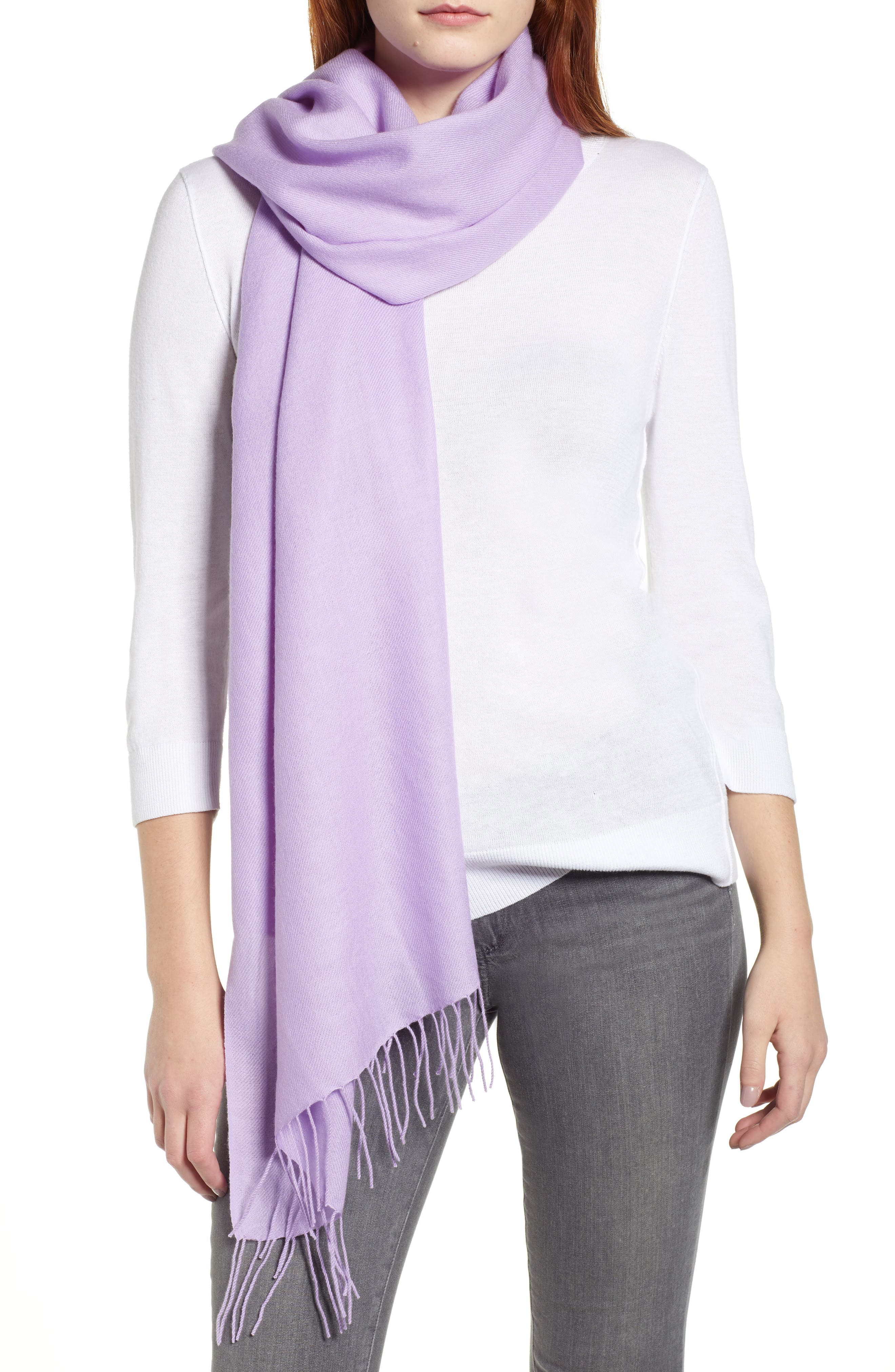 Tissue Weight Wool & Cashmere Scarf,                             Main thumbnail 6, color,