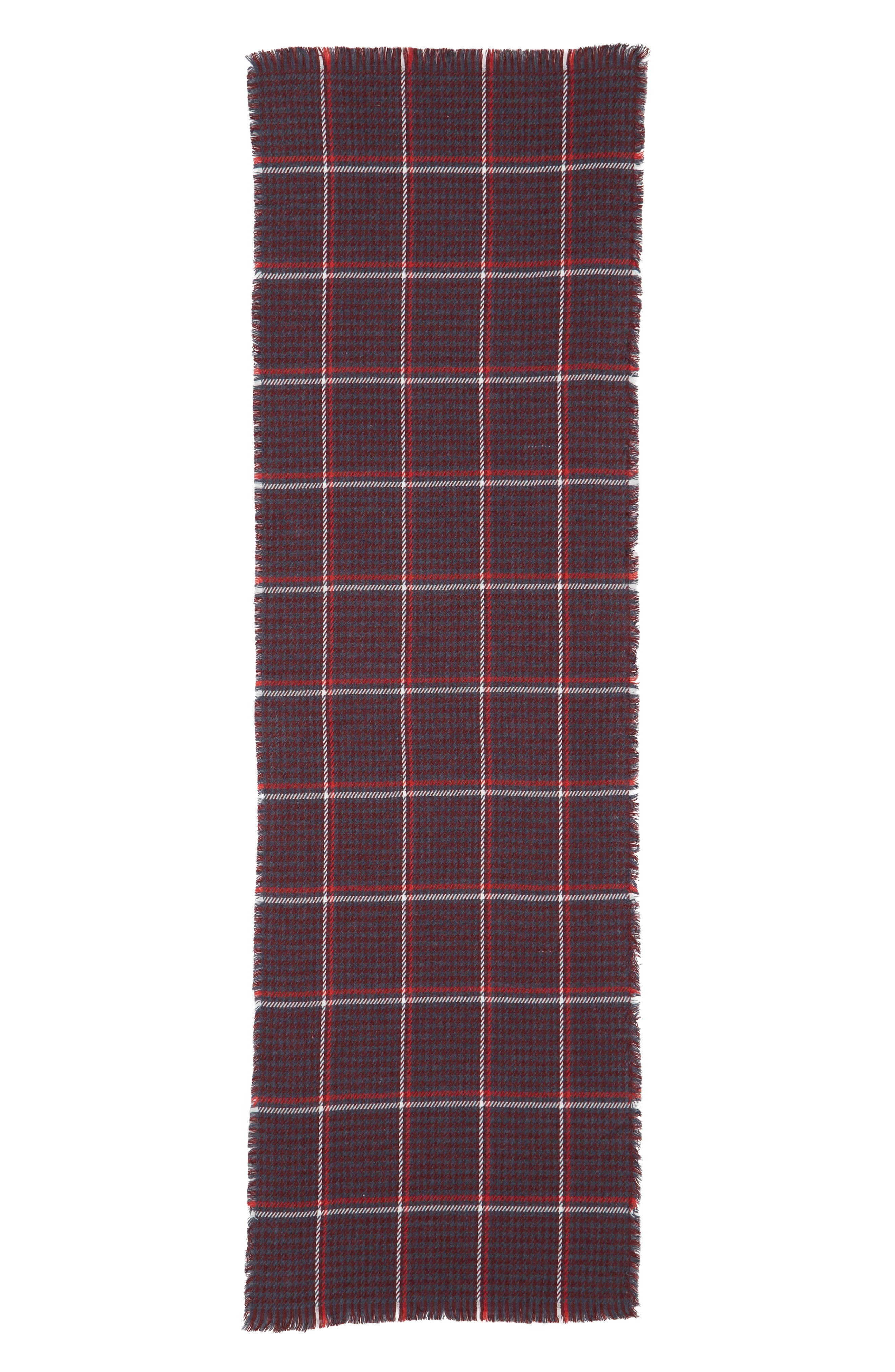 Contrast Houndstooth Scarf,                             Alternate thumbnail 2, color,                             610