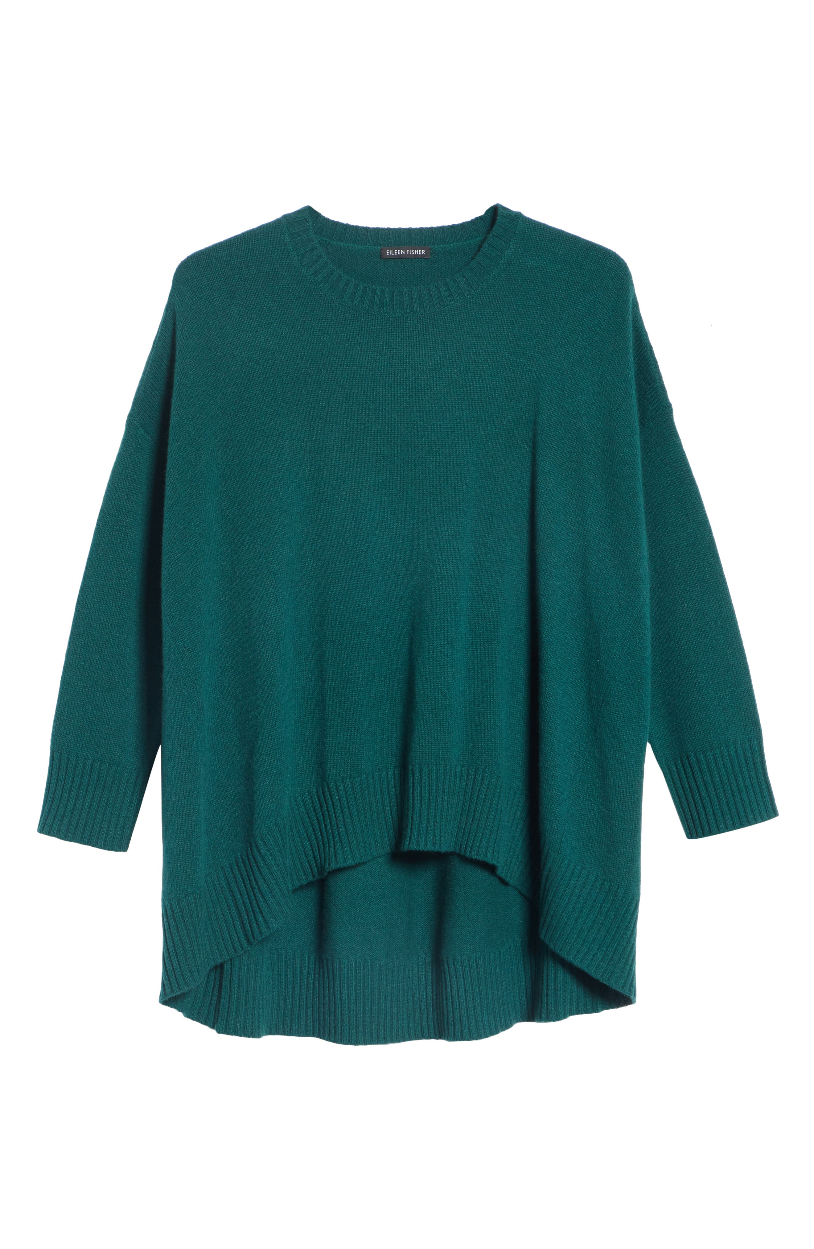 Cashmere & Wool Blend Oversize Sweater,                             Alternate thumbnail 6, color,                             PINE