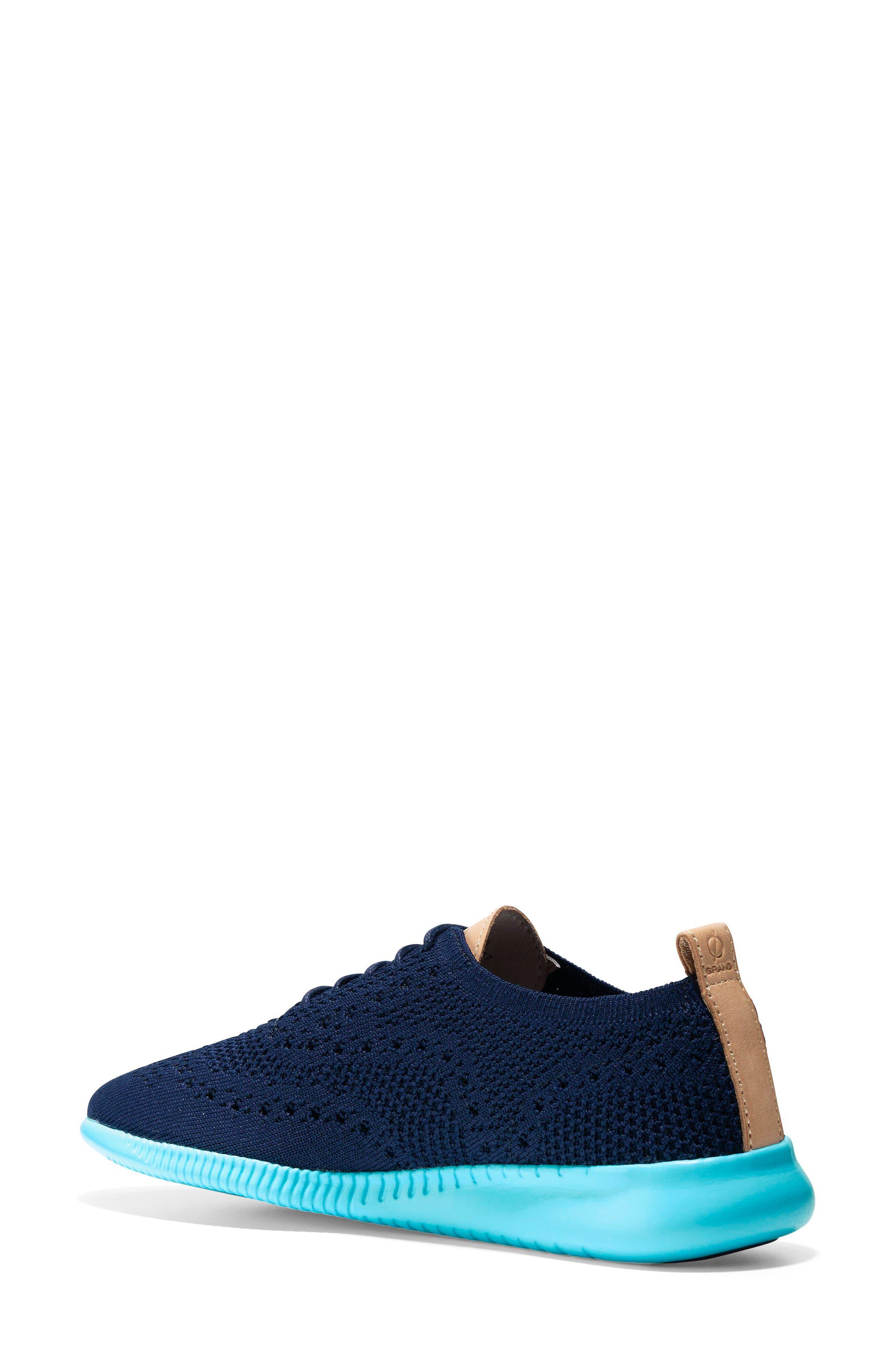 2.ZERØGRAND Stitchlite Wingtip Sneaker,                             Alternate thumbnail 2, color,                             MARINE BLUE/ BLUEFISH FABRIC