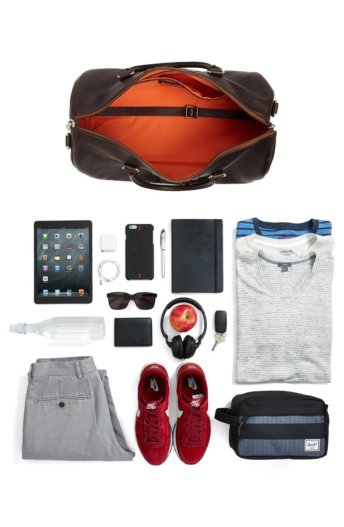 MARTIN DINGMAN,                             'Polocrosse' Duffel Bag,                             Alternate thumbnail 5, color,                             DARK BROWN