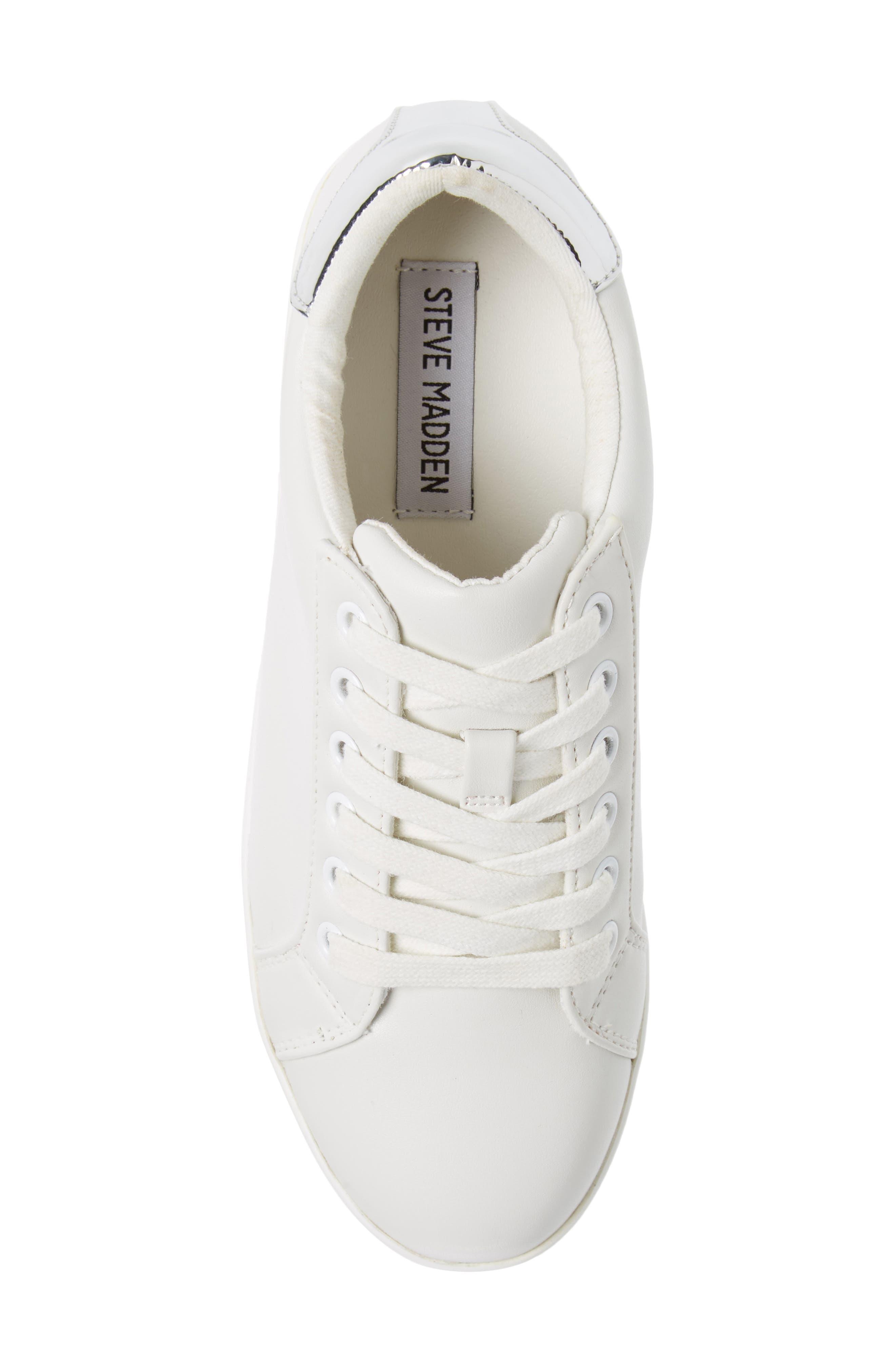 Alley Platform Sneaker,                             Alternate thumbnail 5, color,                             WHITE