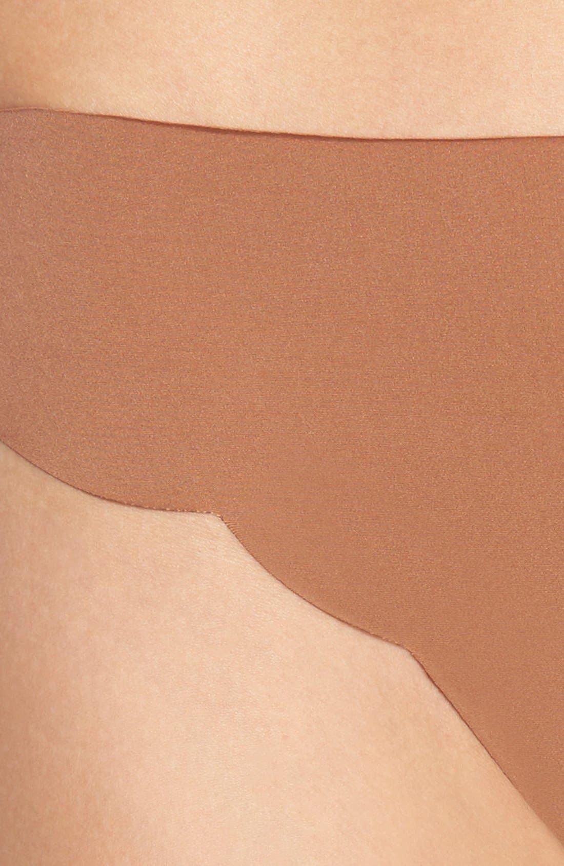 'No Show' Scalloped Thong,                             Alternate thumbnail 2, color,                             243
