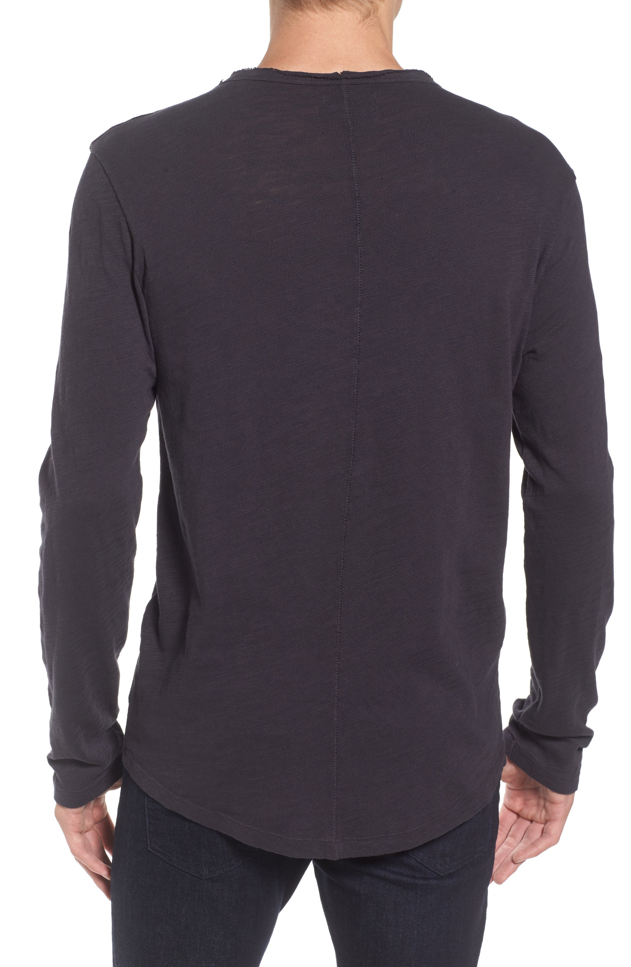Slub Long Sleeve T-Shirt,                             Alternate thumbnail 3, color,