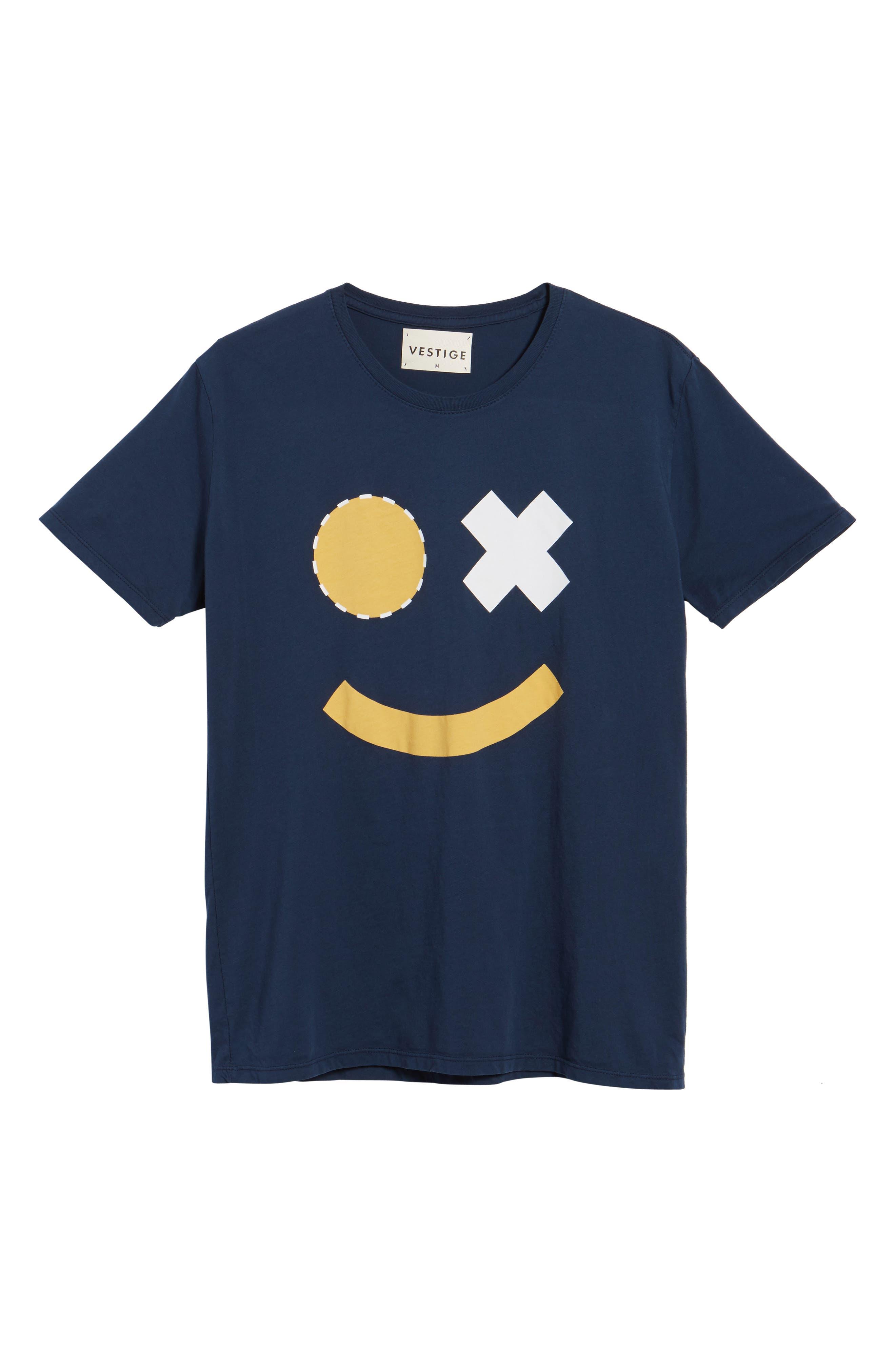Smile Graphic T-Shirt,                             Alternate thumbnail 6, color,                             400