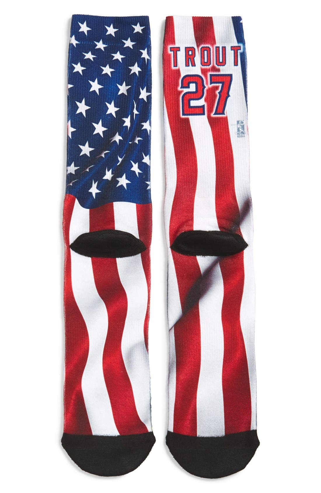 'Los Angeles Angels - Mike Trout' Socks,                             Alternate thumbnail 3, color,                             649
