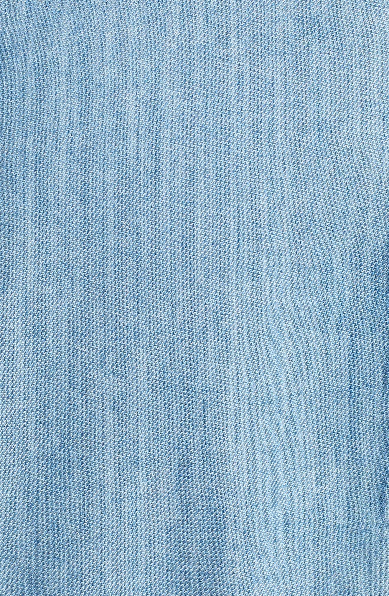 Tessa Denim Roll Sleeve Top,                             Alternate thumbnail 5, color,                             400