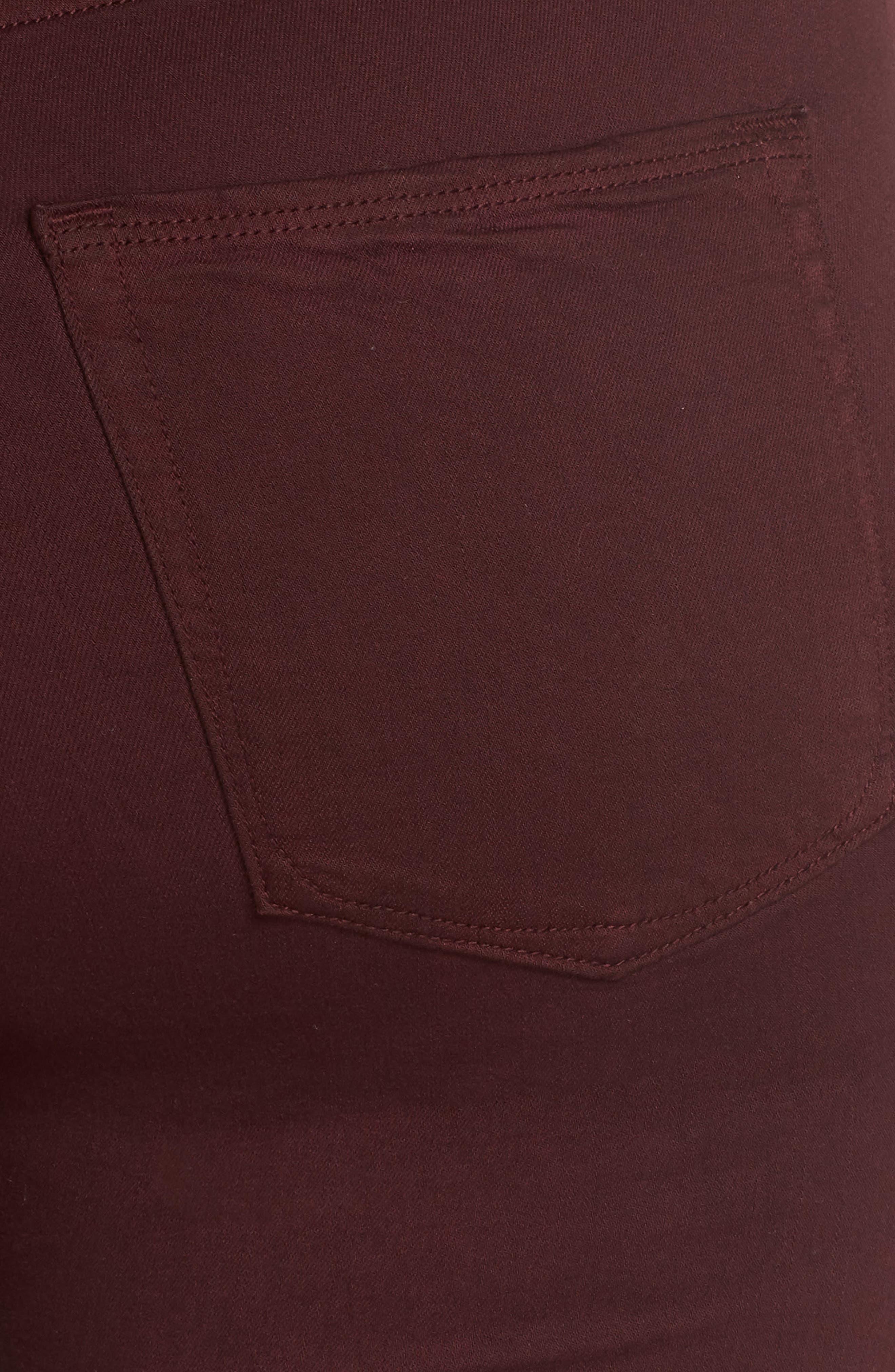Good Legs High Waist Ankle Skinny Jeans,                             Alternate thumbnail 11, color,                             BURGUNDY 001