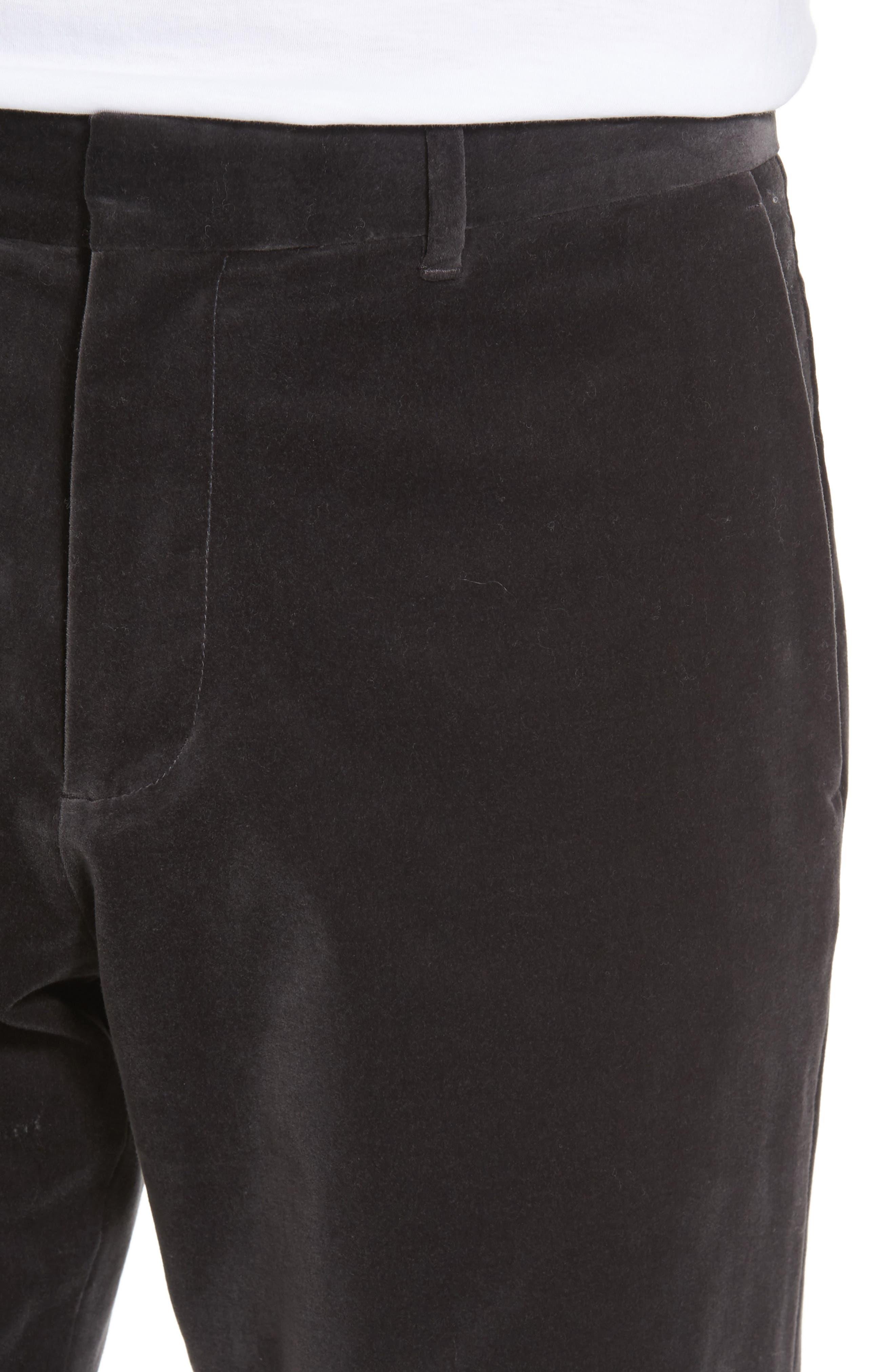 Velvet Trousers,                             Alternate thumbnail 8, color,