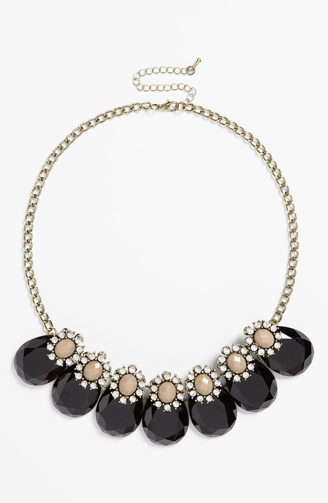 Teardrop Frontal Necklace,                         Main,                         color,