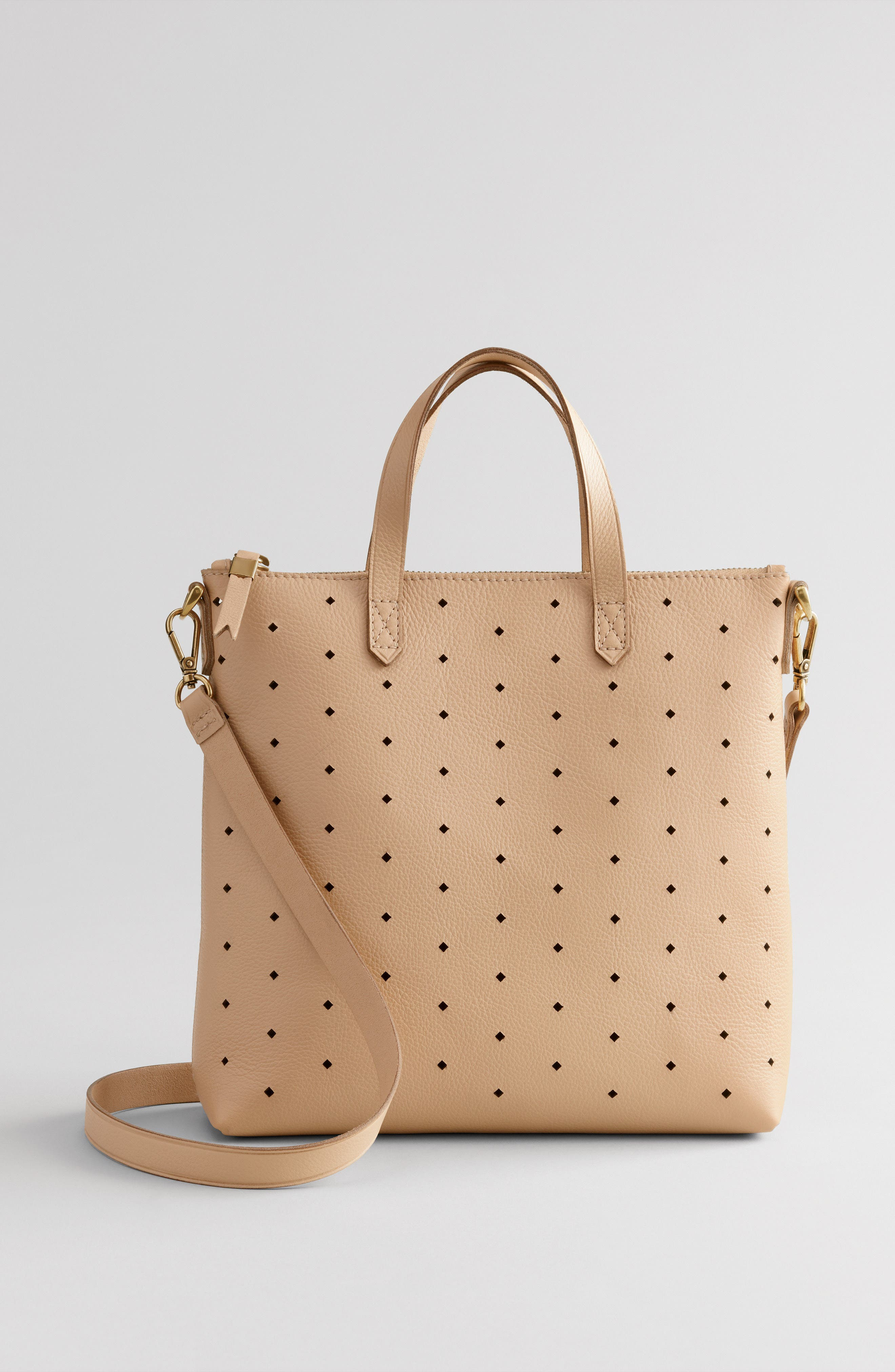MADEWELL,                             Mini Transport Perforated Leather Crossbody Bag,                             Alternate thumbnail 7, color,                             250