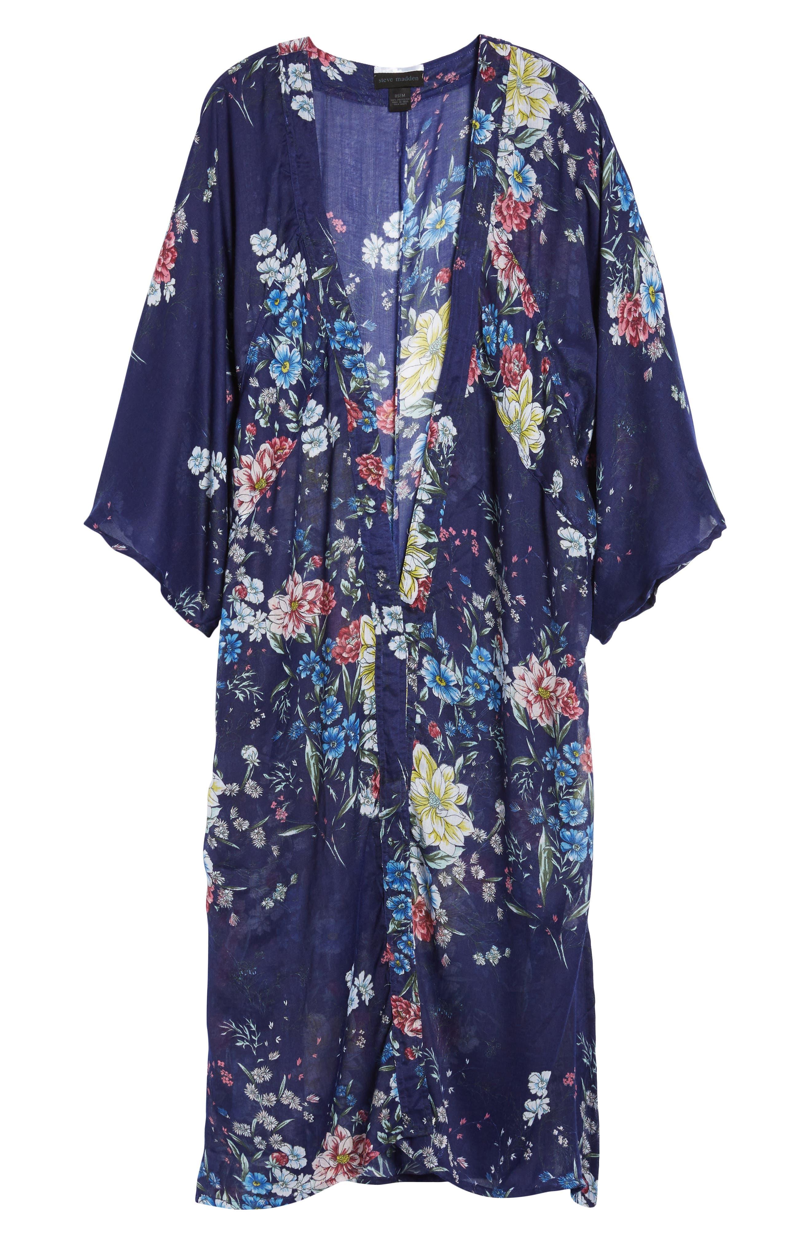 STEVE MADDEN,                             Floral Kimono Duster,                             Alternate thumbnail 6, color,                             410