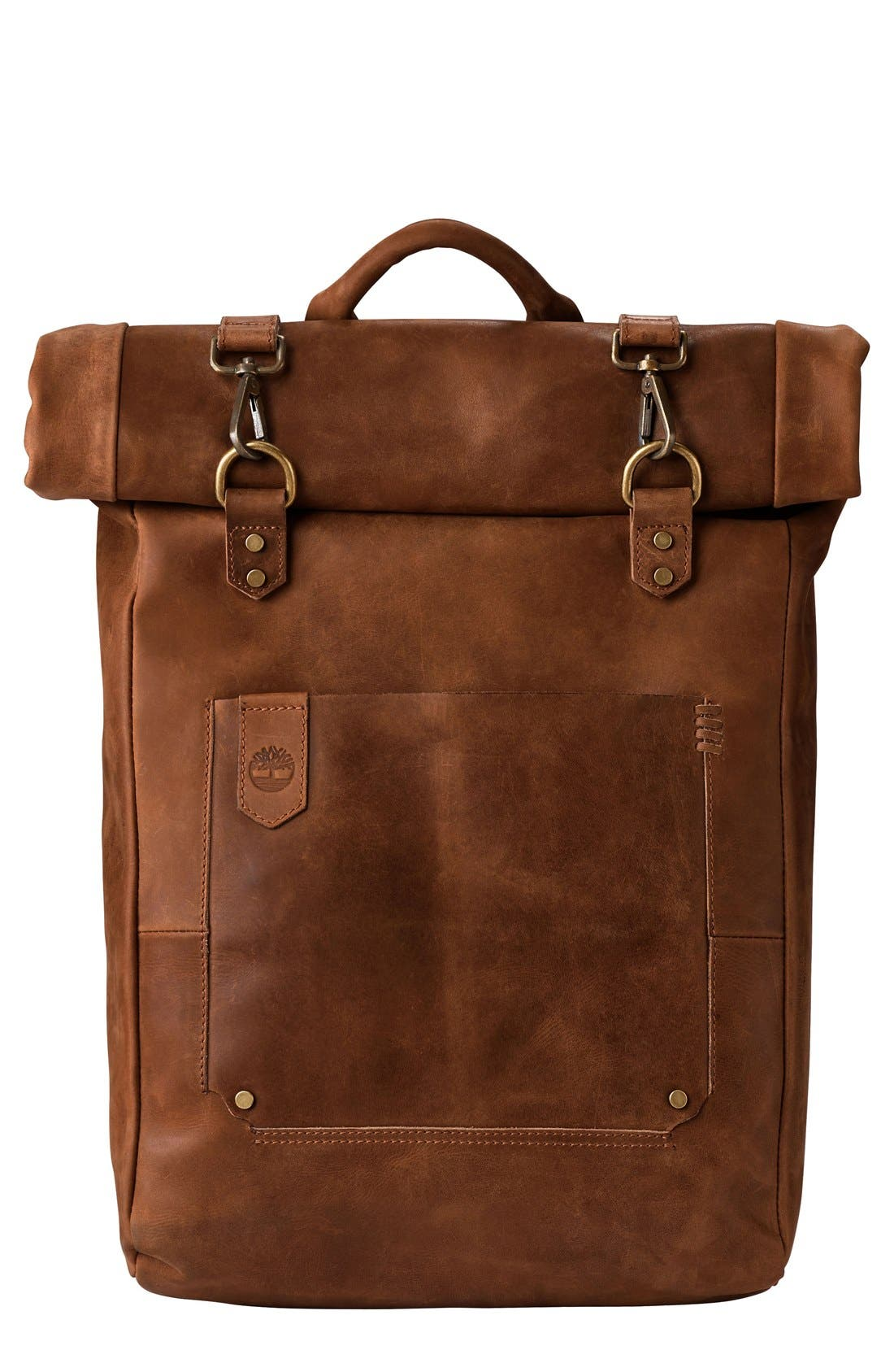 'Walnut Hill' Leather Backpack,                             Main thumbnail 1, color,                             BARN