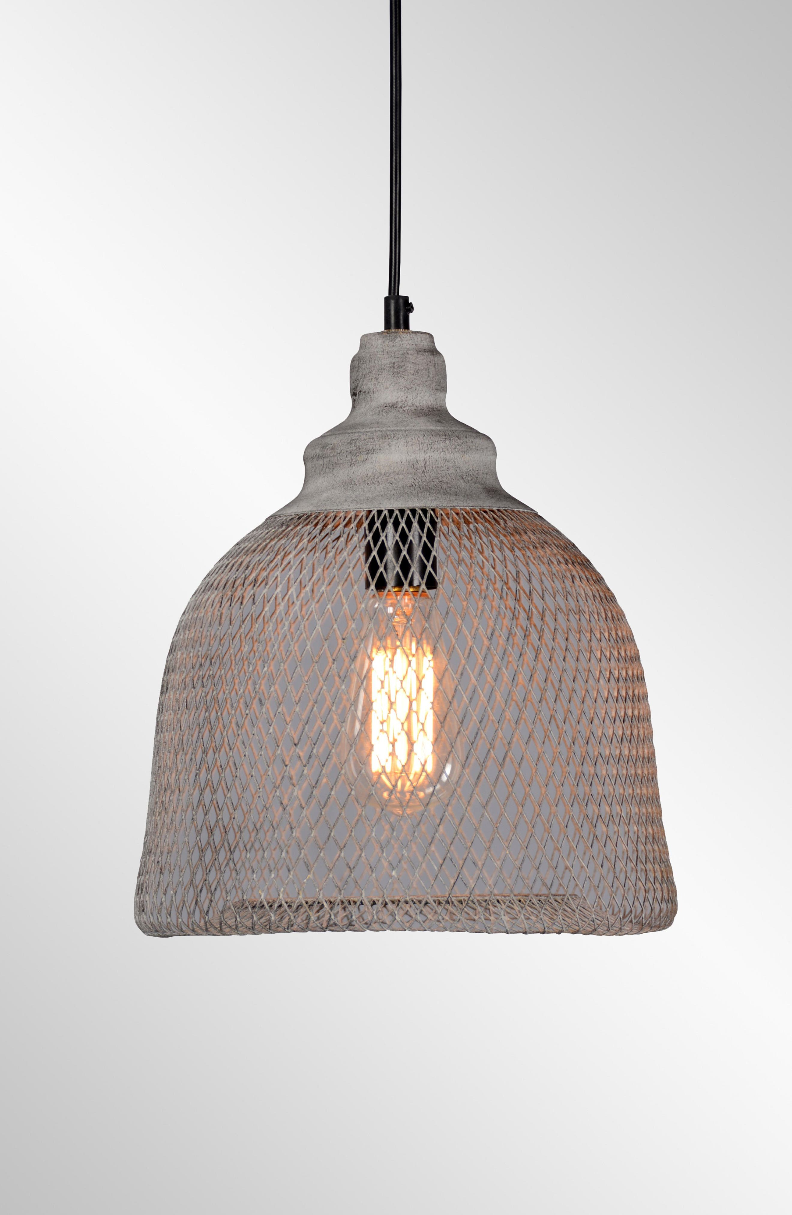 Classic Home Vega Mesh Pendant Lamp Size Large  White
