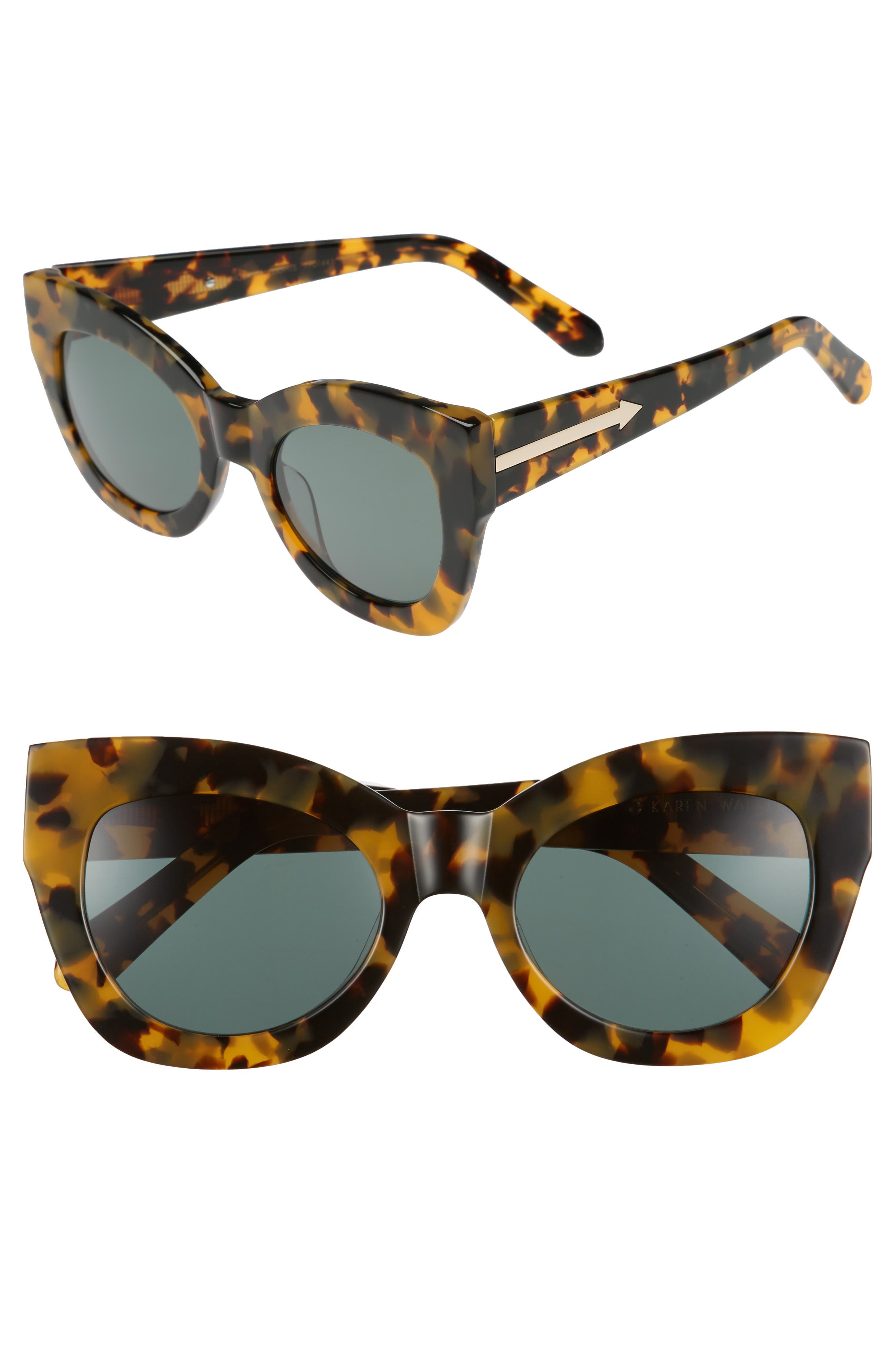 Northern Lights V2 51mm Cat Eye Sunglasses,                             Main thumbnail 1, color,                             CRAZY TORTOISE
