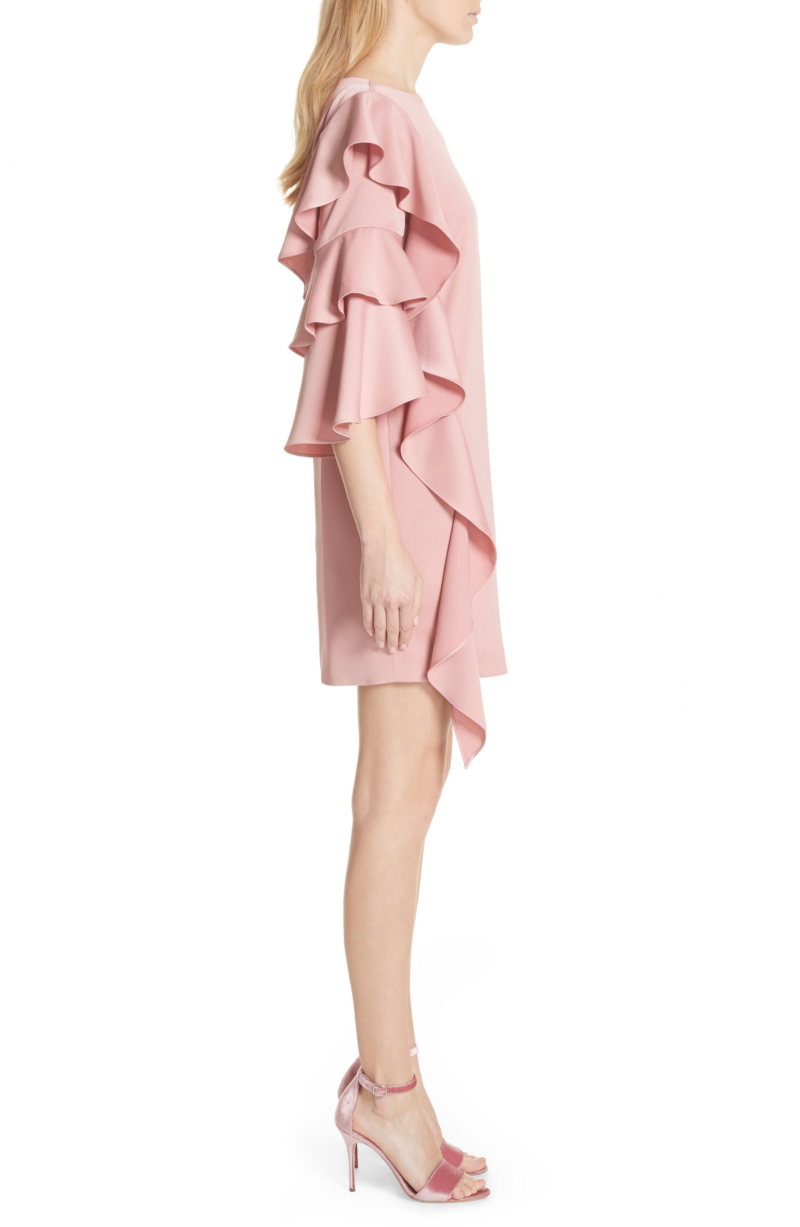 Ruffle Tunic Dress,                             Alternate thumbnail 3, color,                             660