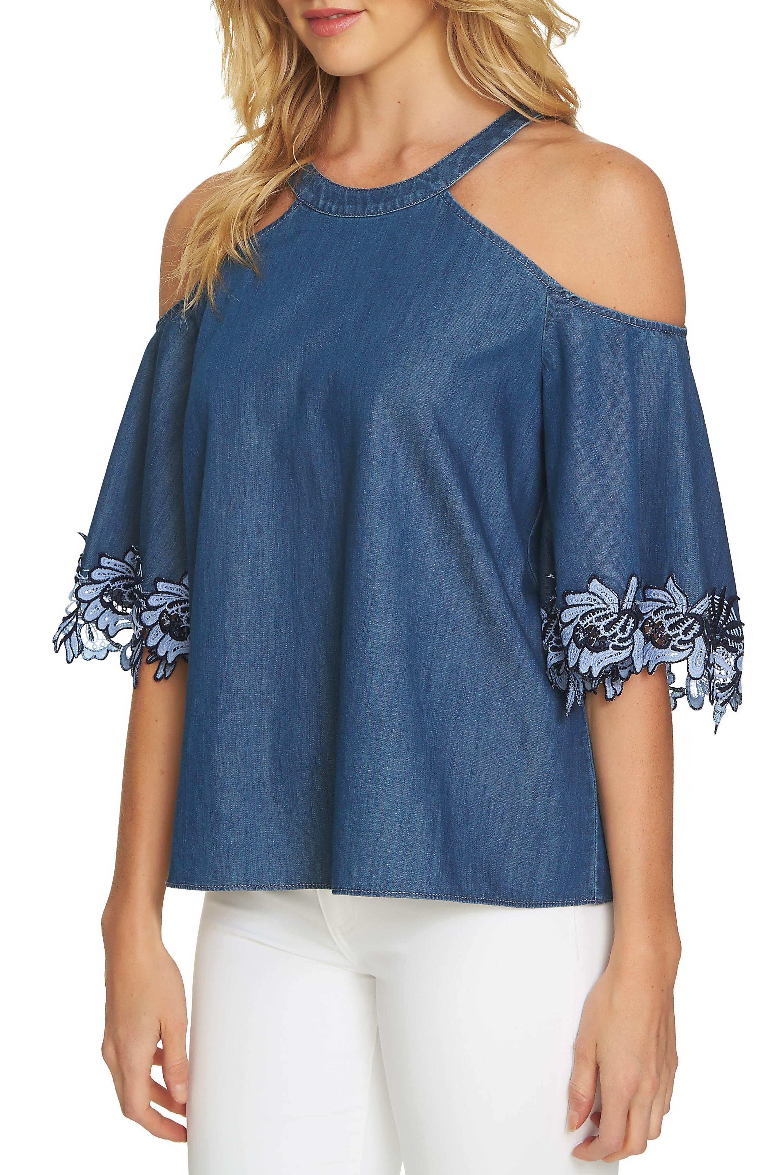 Cold Shoulder Blouse,                         Main,                         color,