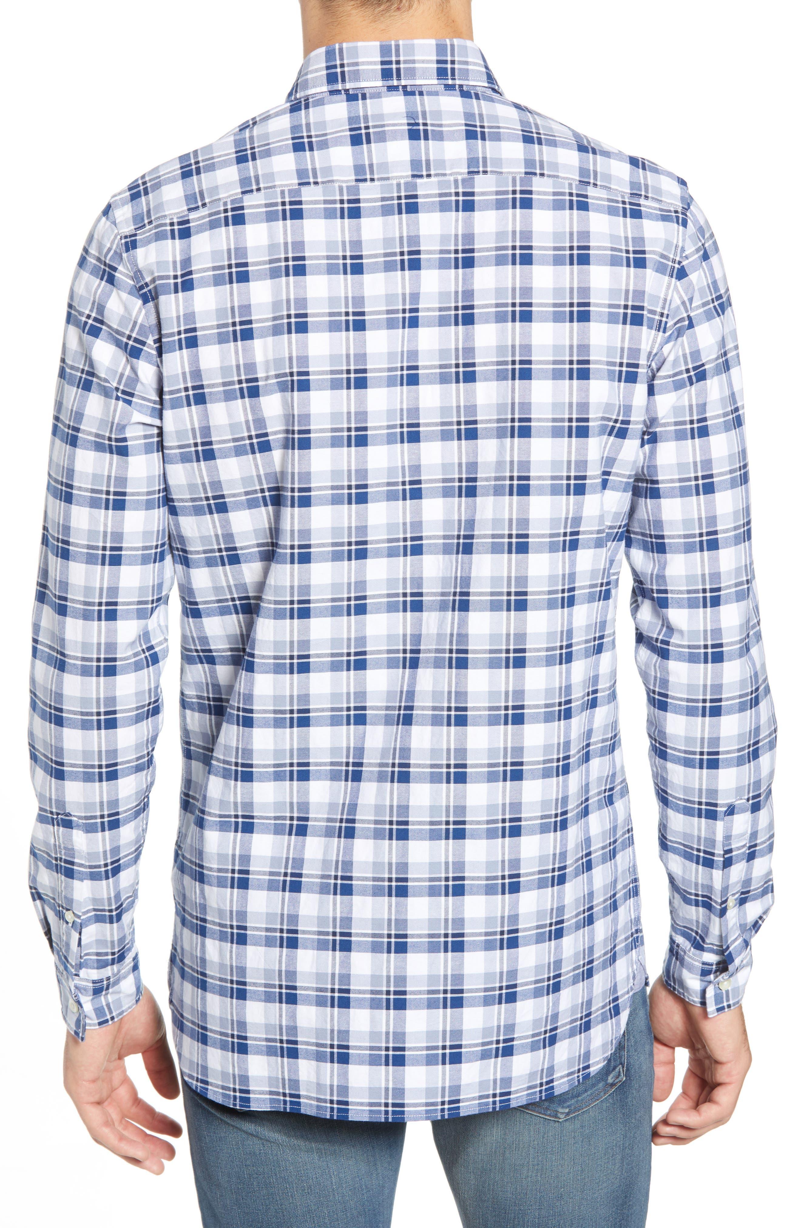 Slim Fit Check Oxford Sport Shirt,                             Alternate thumbnail 2, color,                             400