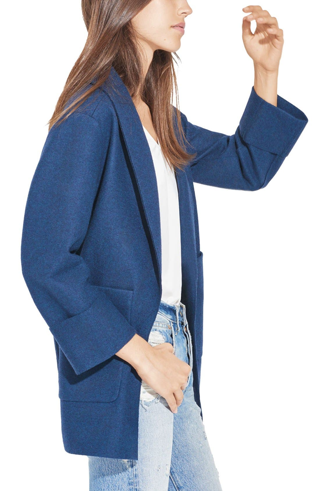 'The Blanket' Open Front Wool Coat,                             Alternate thumbnail 2, color,                             400