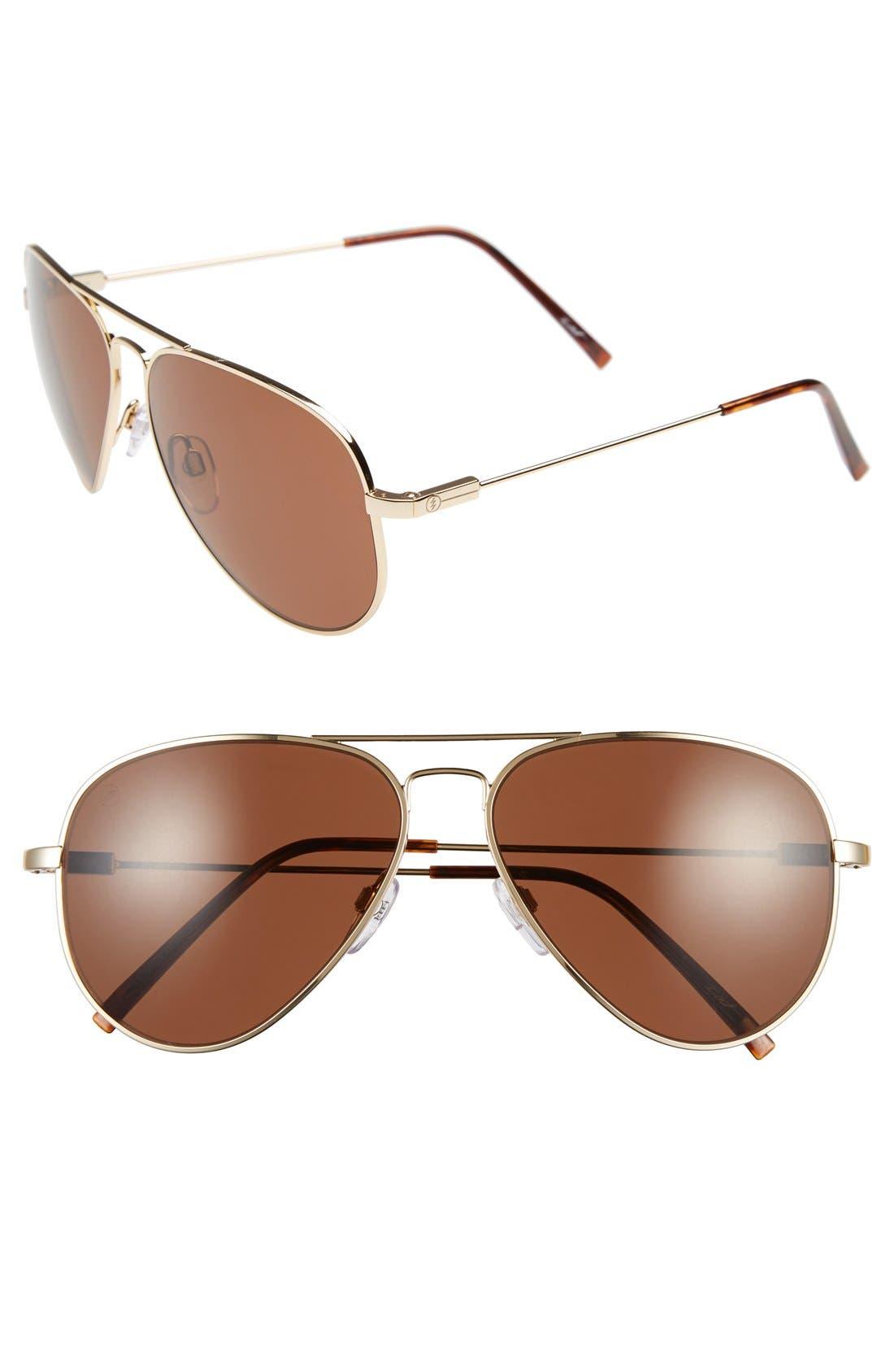 'AV1' 58mm Aviator Sunglasses,                             Main thumbnail 1, color,                             GOLD/ BRONZE