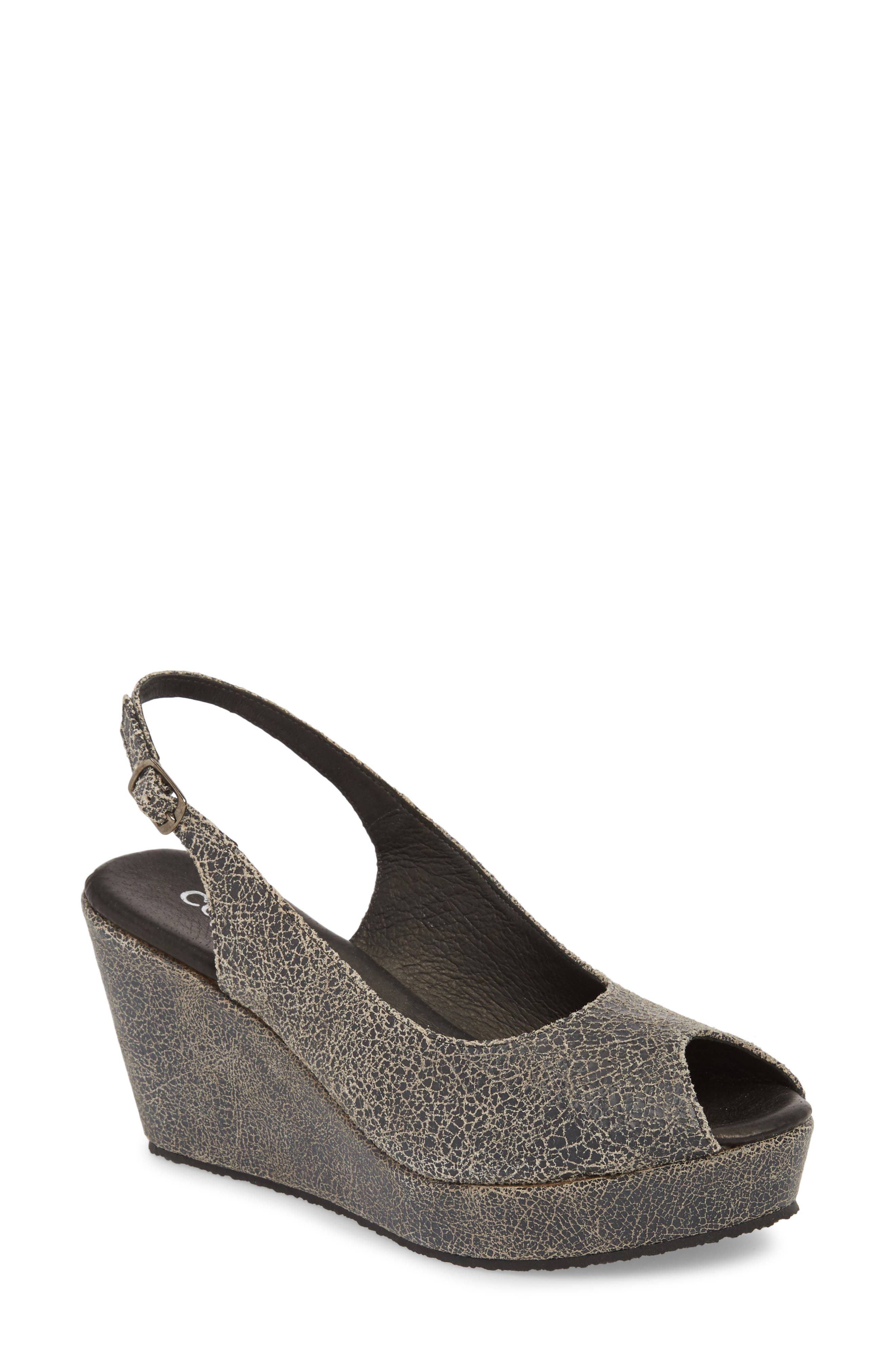 Fabrice Slingback Platform Sandal,                             Main thumbnail 1, color,                             GREY CRACKLE LEATHER