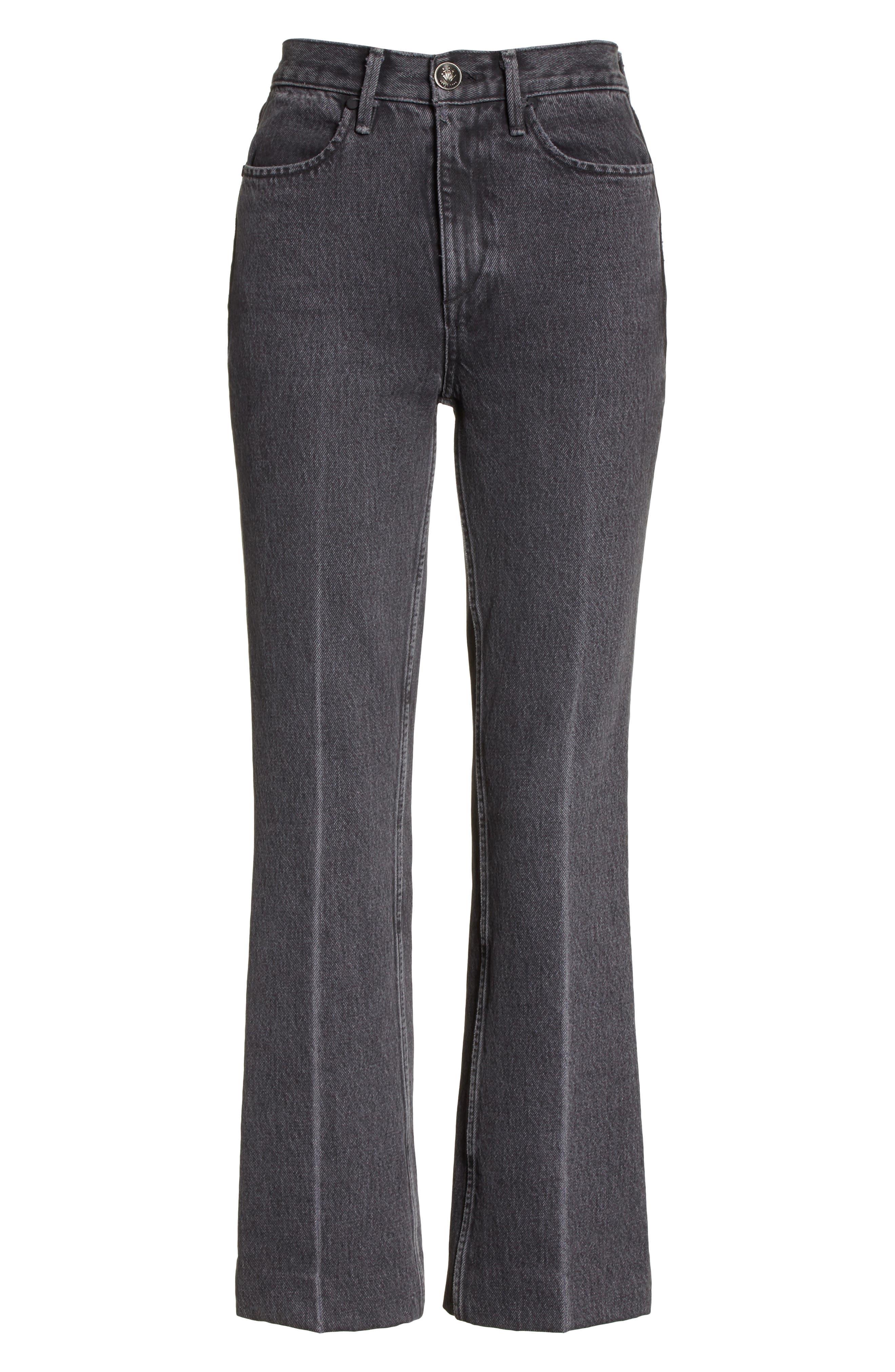 Dylan High Waist Crop Kick Flare Jeans,                             Alternate thumbnail 6, color,                             021