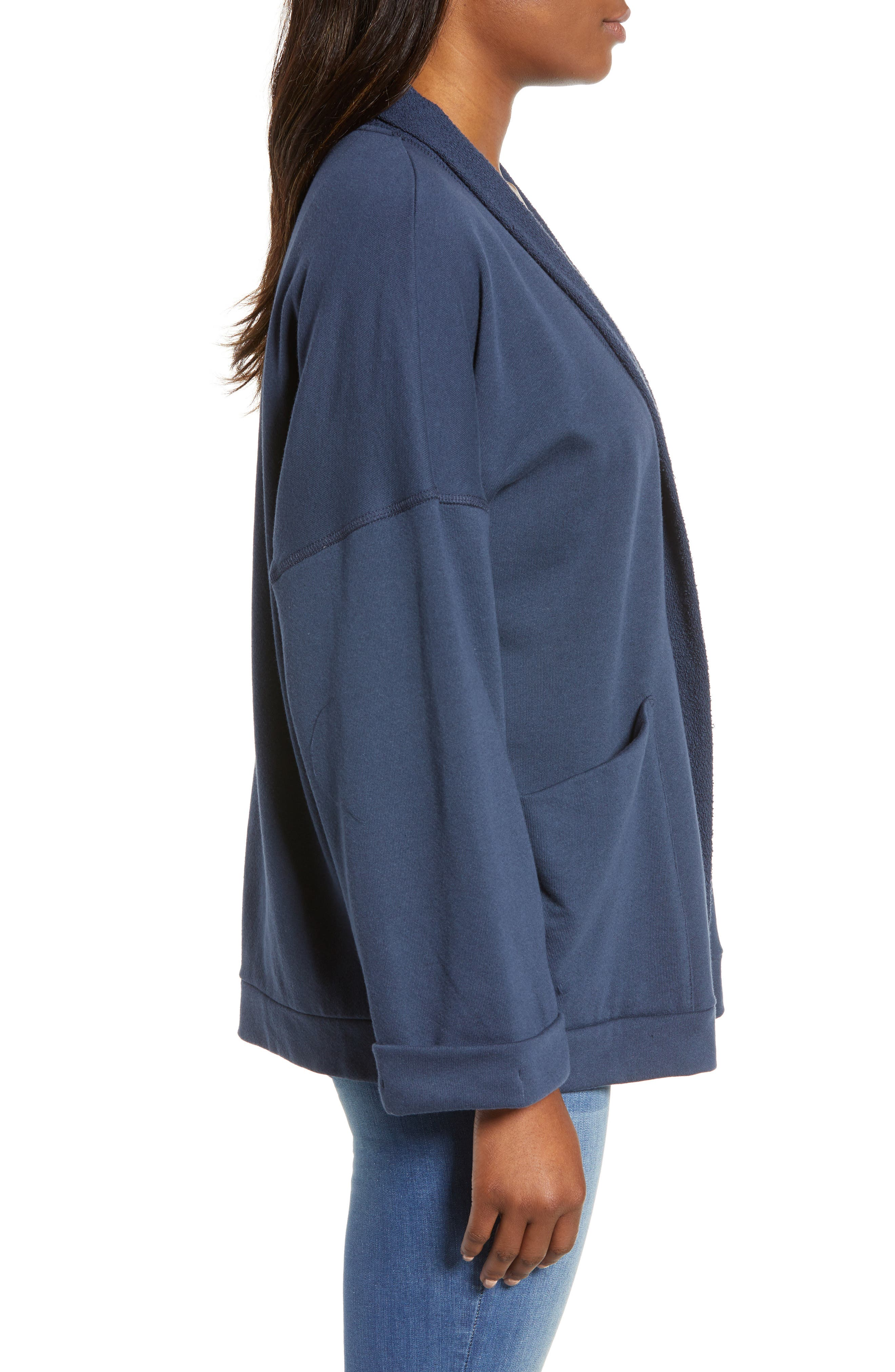 Off-Duty Roll Sleeve Cotton Blend Jacket,                             Alternate thumbnail 10, color,