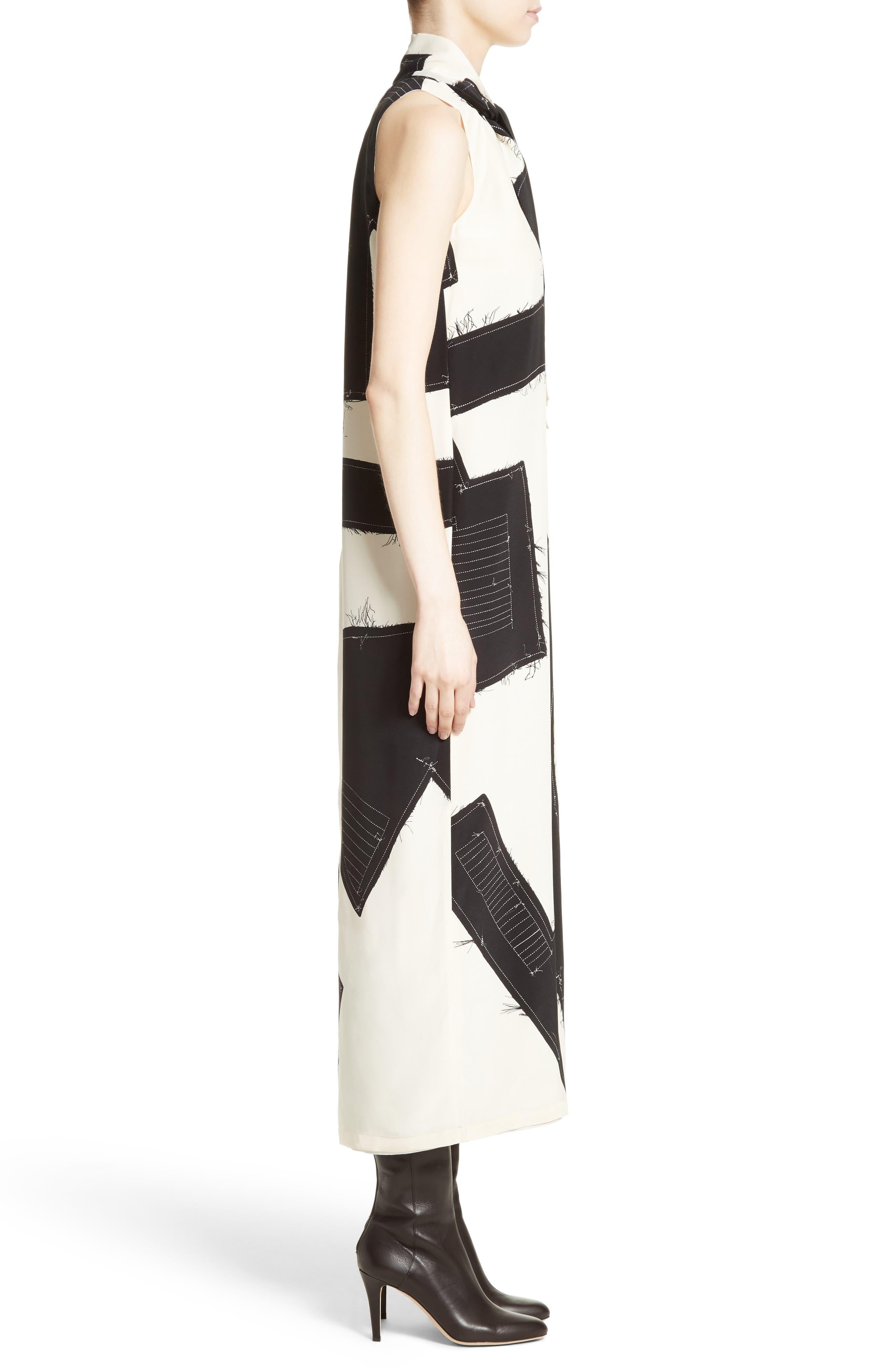 Agiato Print Silk Dress,                             Alternate thumbnail 3, color,