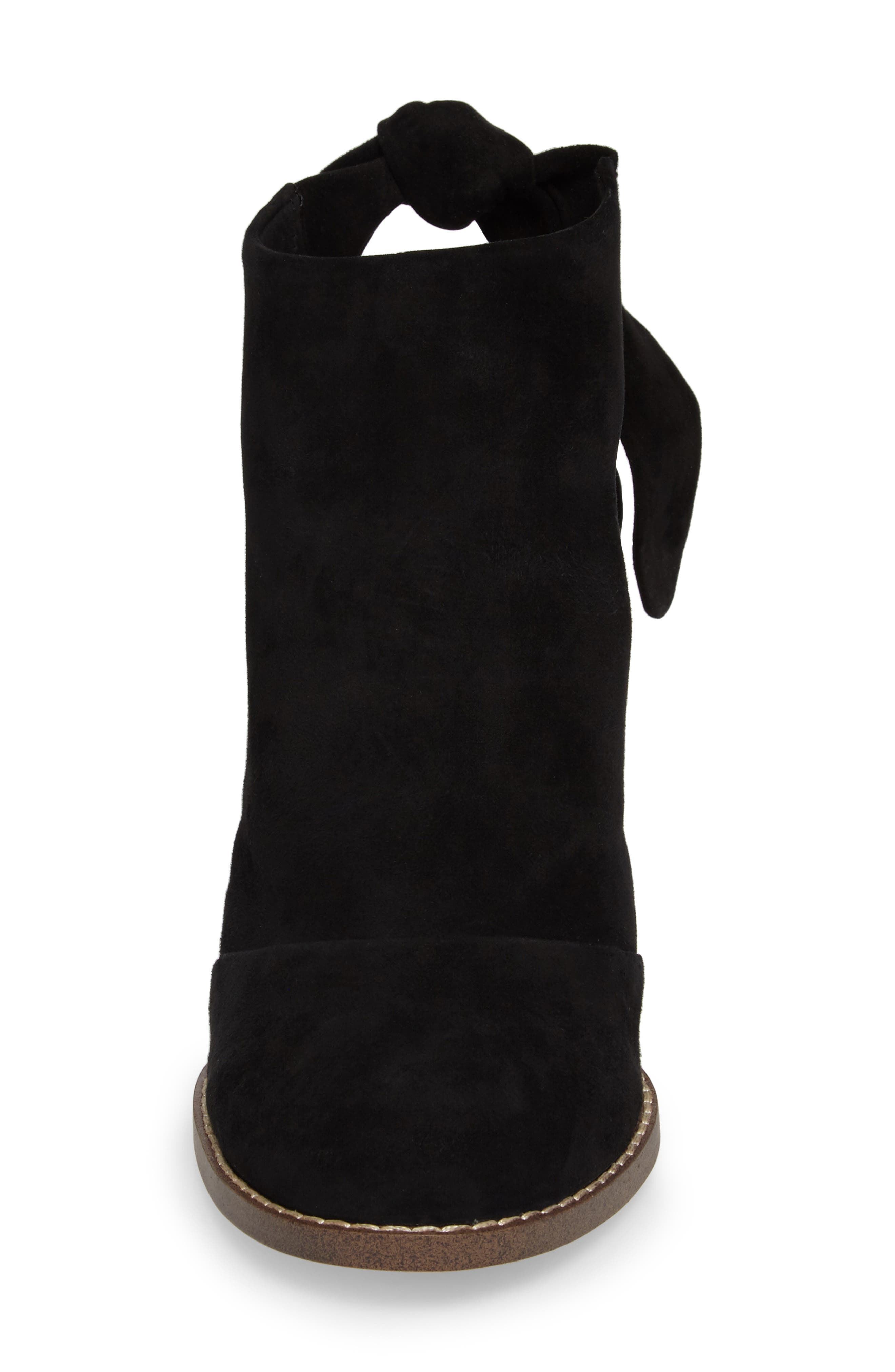 Danae Stacked Heel Bootie,                             Alternate thumbnail 4, color,                             013