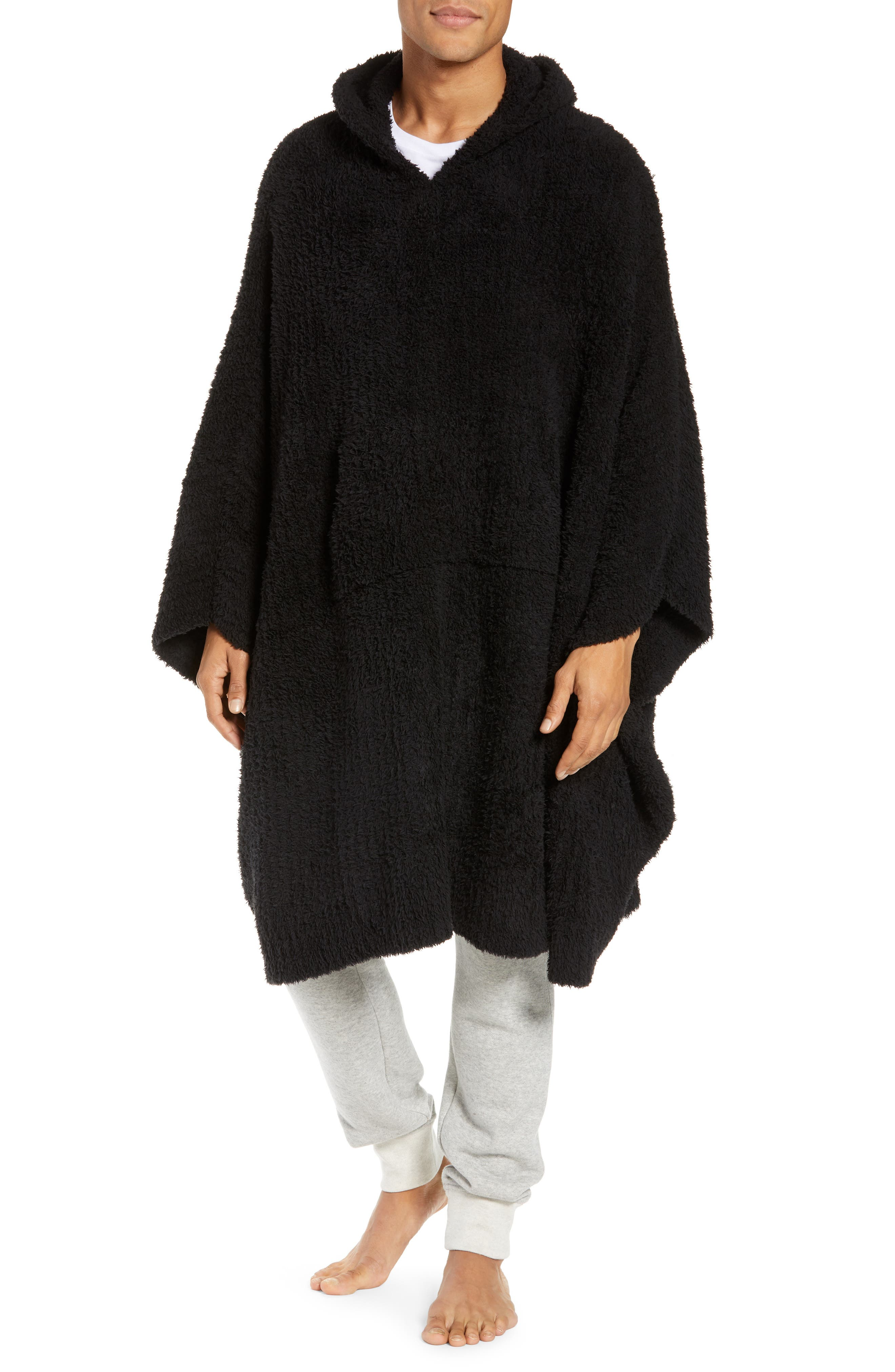 BAREFOOT DREAMS<SUP>®</SUP>,                             Barefoot Dreams Cozy Chic Poncho Robe,                             Main thumbnail 1, color,                             001