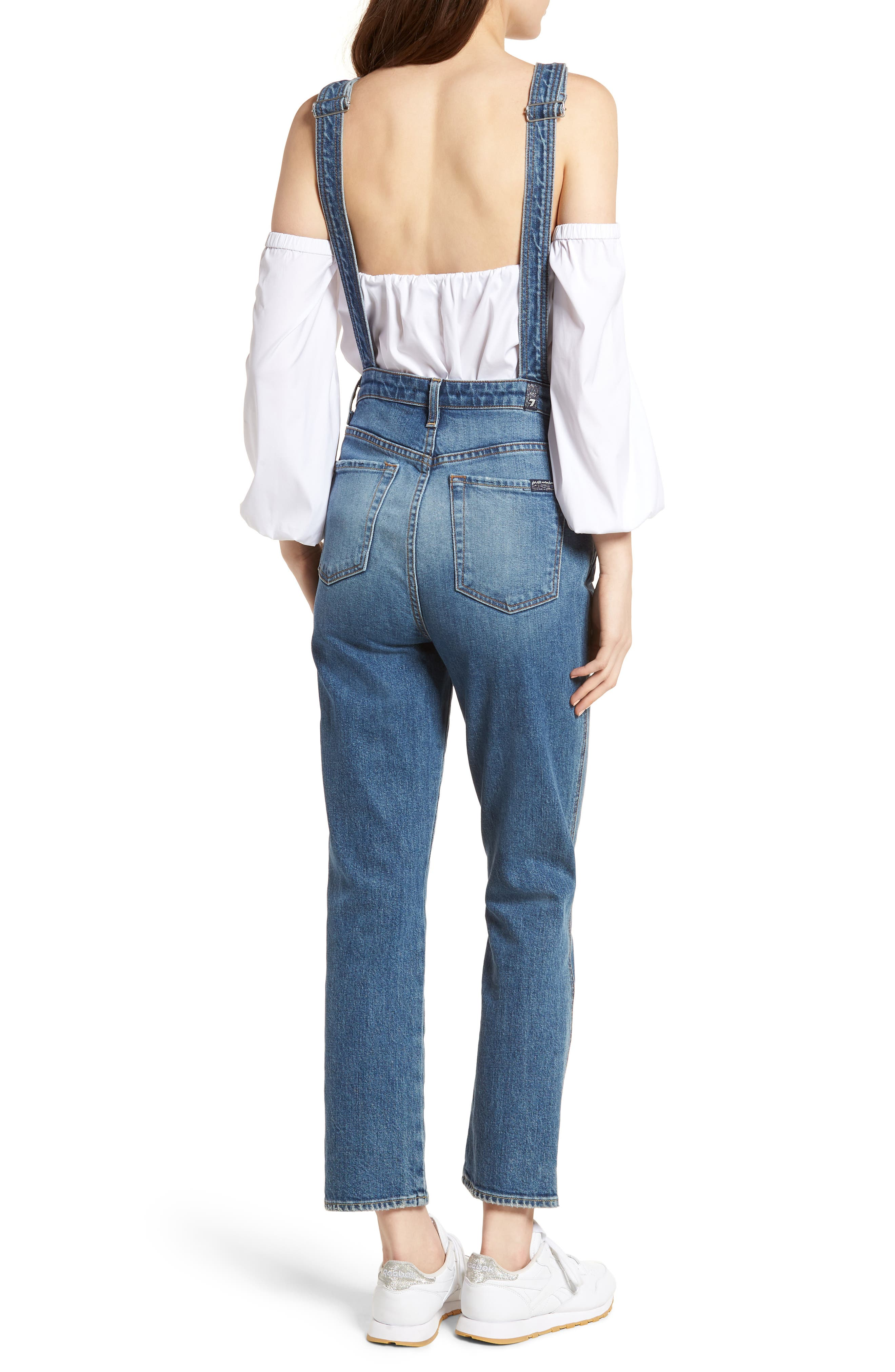 Edie Denim Overalls,                             Alternate thumbnail 2, color,                             401