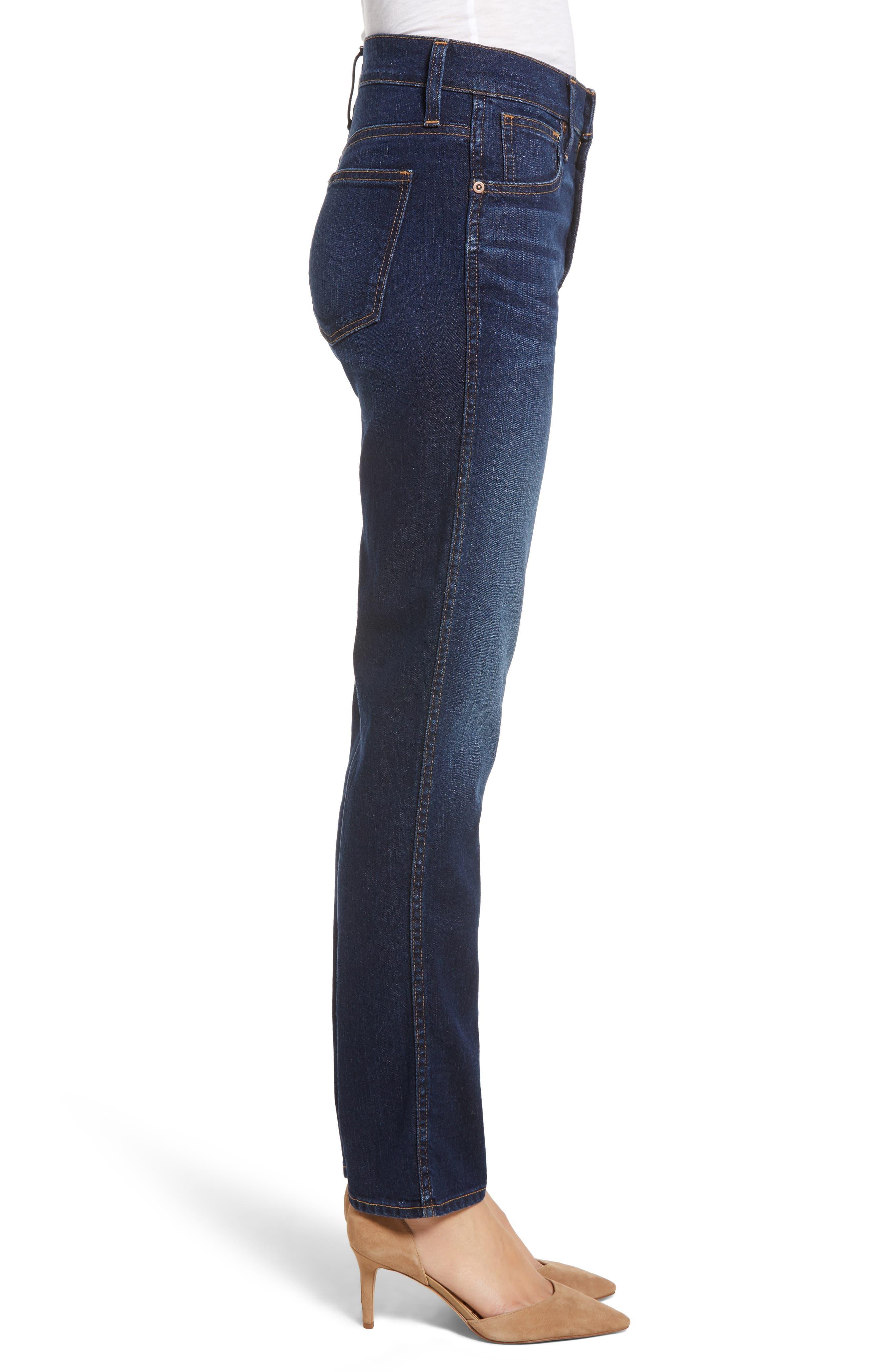 Slim Straight Jeans,                             Alternate thumbnail 3, color,                             420