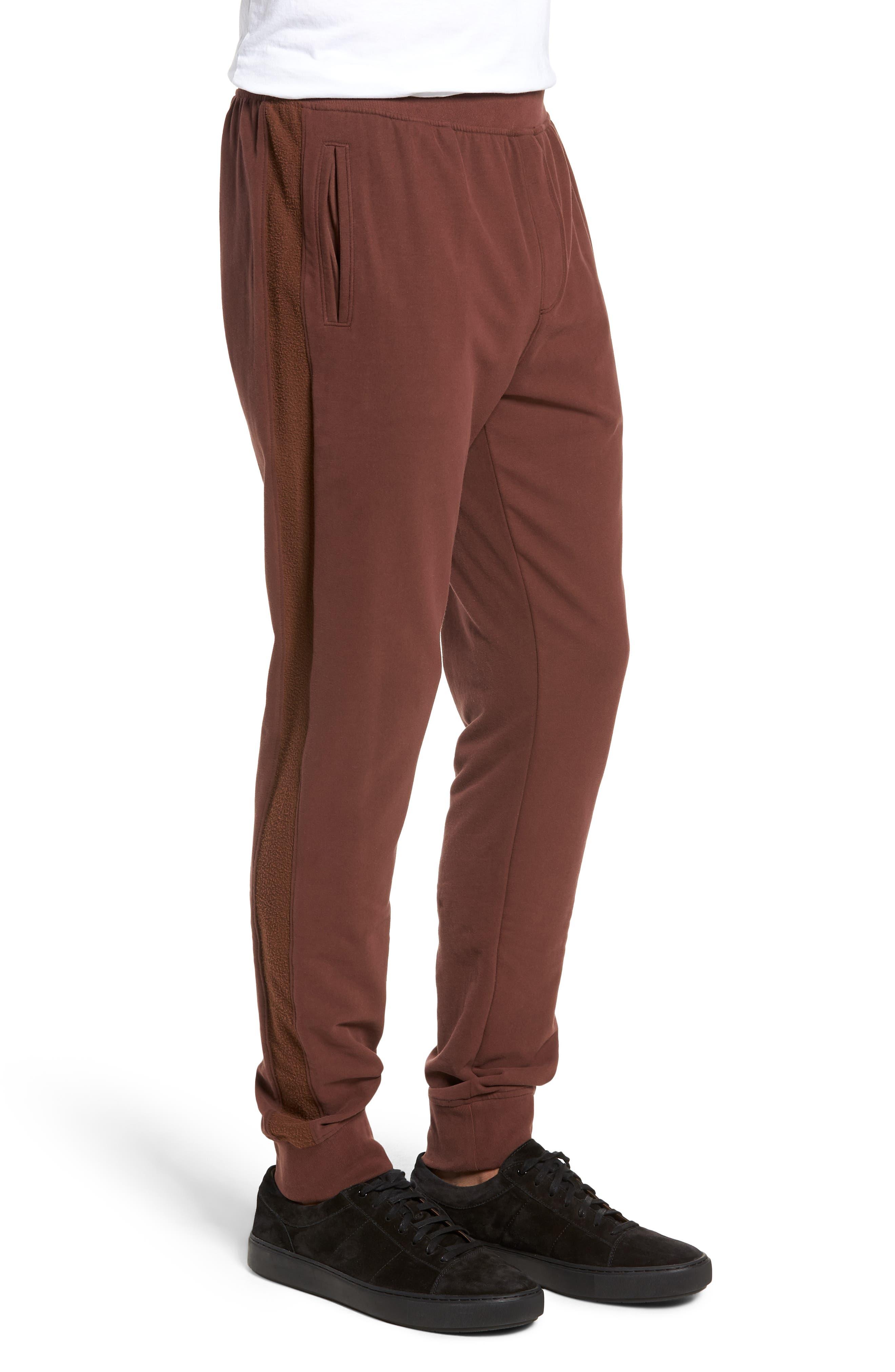 Slim Fit Sweatpants,                             Alternate thumbnail 3, color,                             WINE