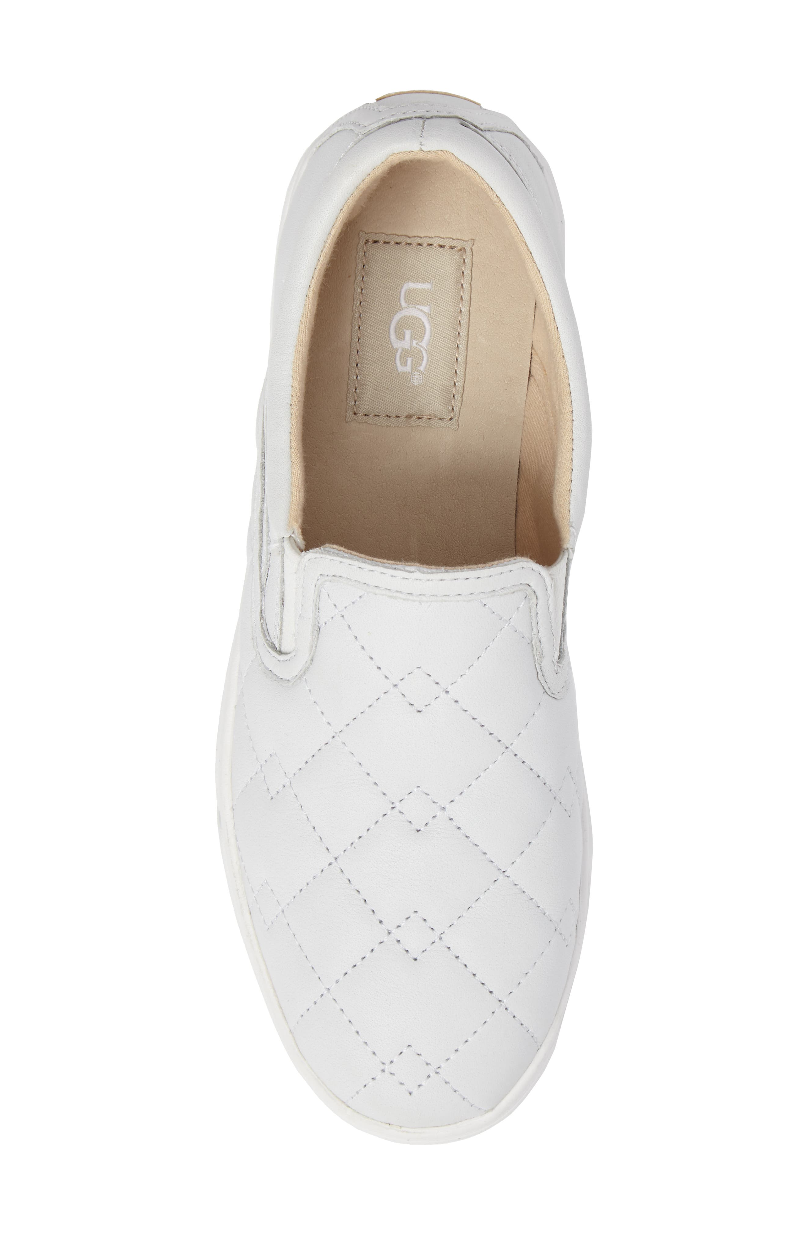 Fierce Deco Quilted Slip-On Sneaker,                             Alternate thumbnail 5, color,                             100