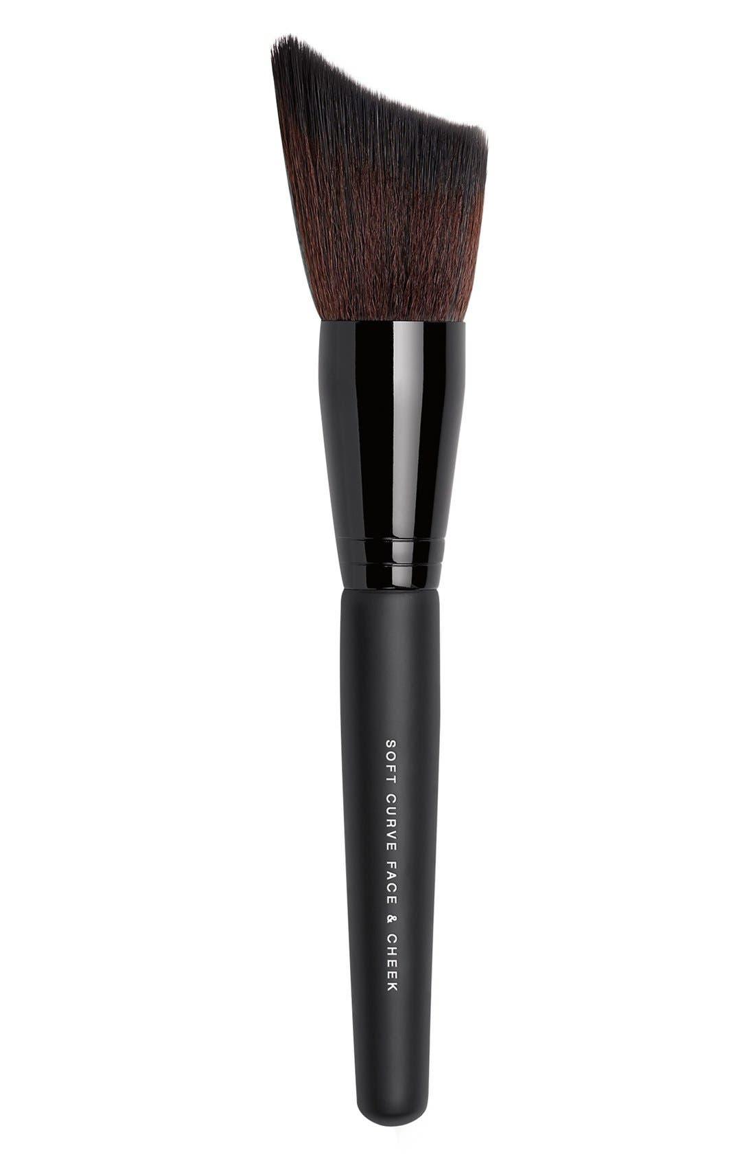 Soft Curve Face & Cheek Brush,                             Main thumbnail 1, color,                             NO COLOR