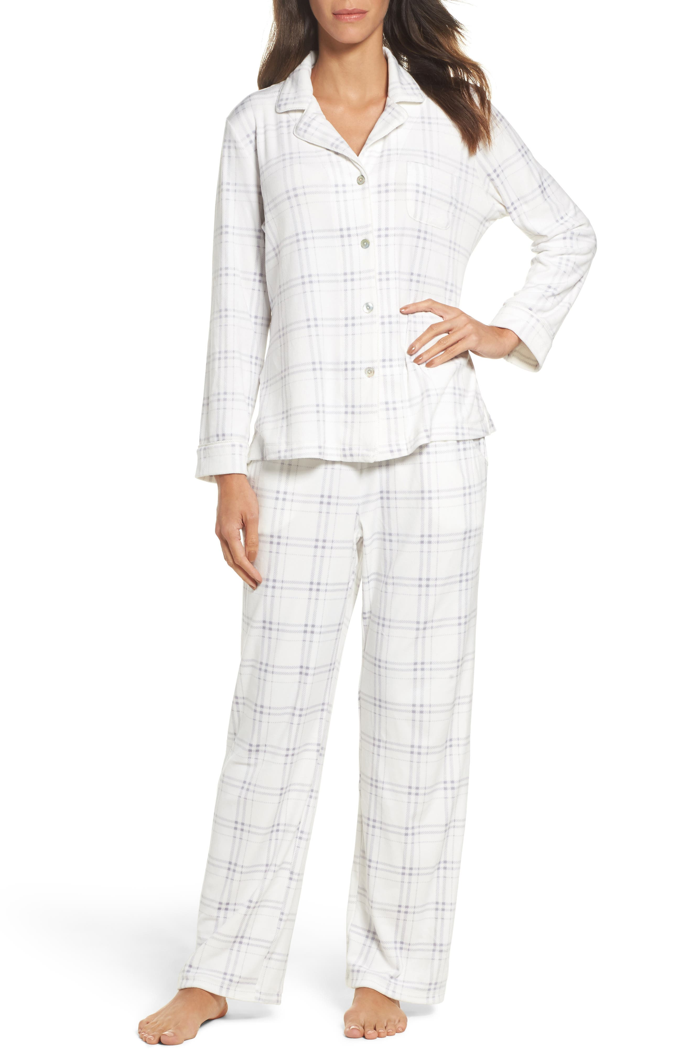 Fleece Pajamas,                         Main,                         color, 100