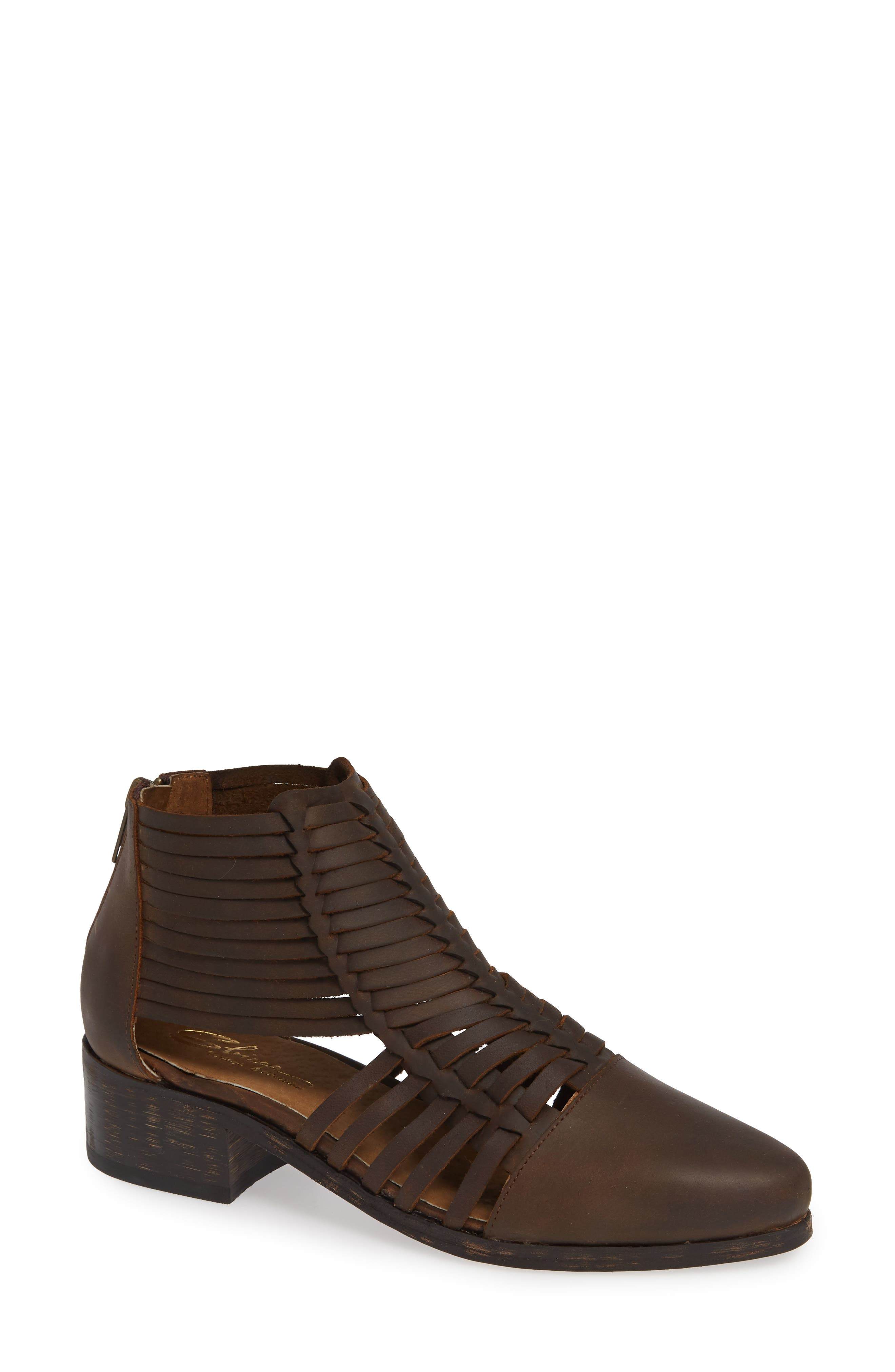 Sbicca Rosabell Woven Bootie, Brown