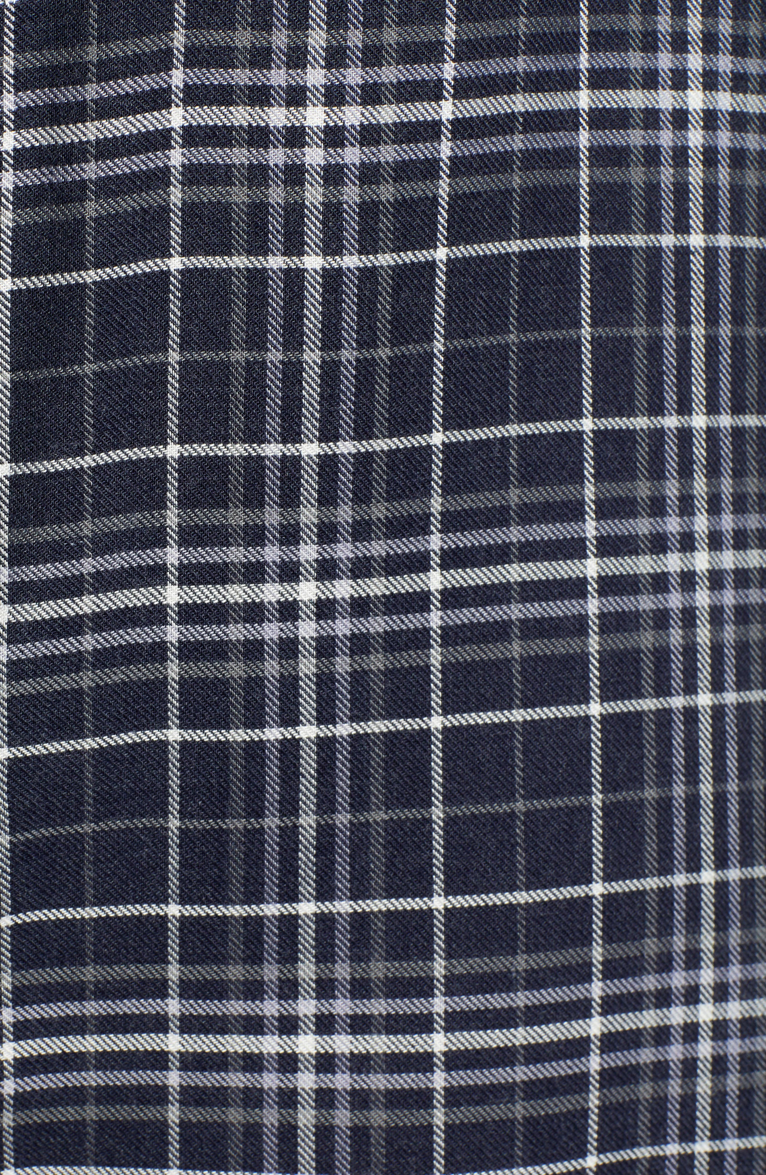 Plaid Boyfriend Shirt,                             Alternate thumbnail 5, color,                             NAVY NIGHT DOUBLE WINDOW PANE