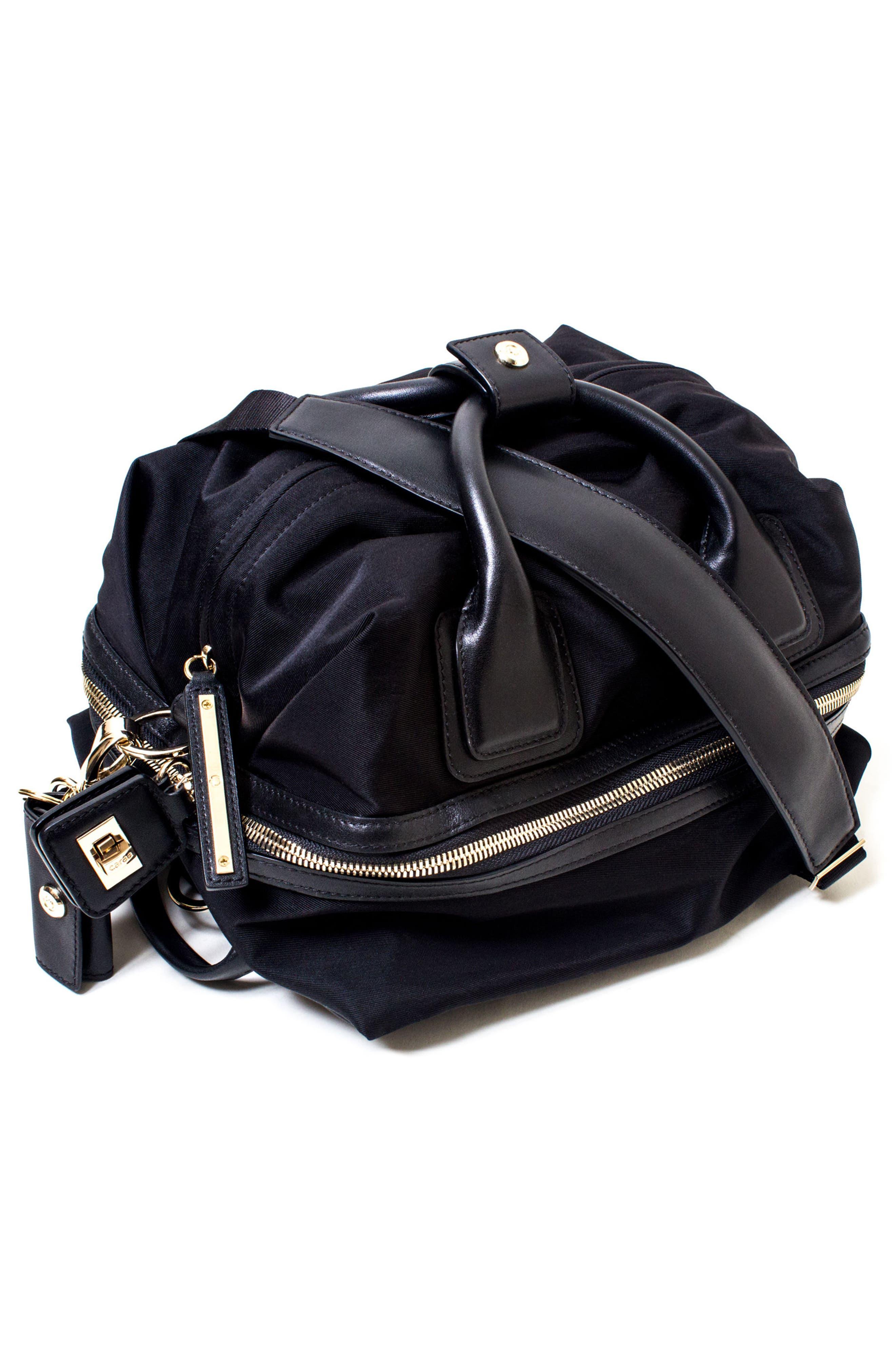 Studio Duffel Backpack,                             Alternate thumbnail 6, color,                             BLACK/ GOLD