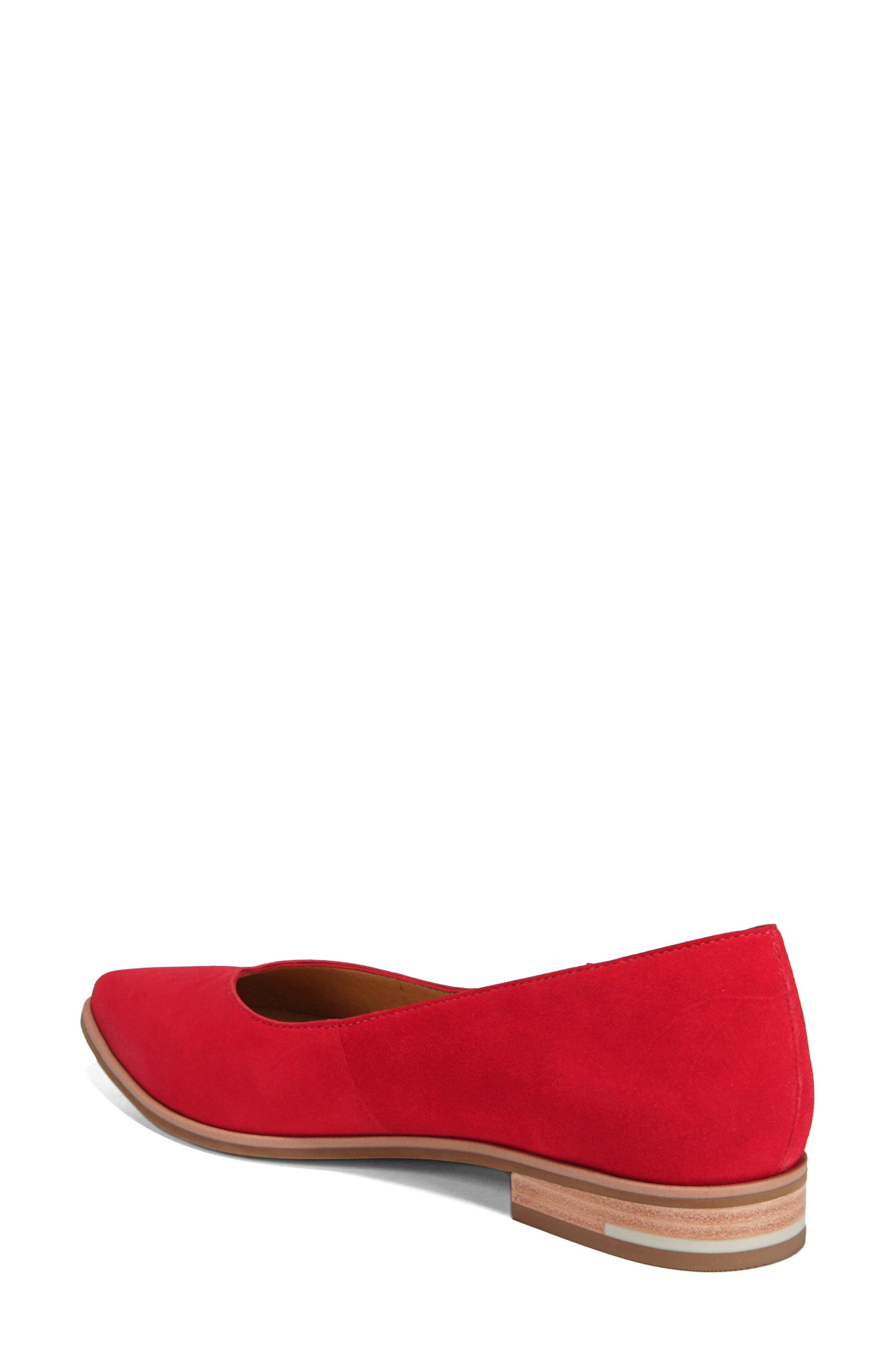 Dr. Scholls Flair Flat,                             Alternate thumbnail 2, color,                             RED LEATHER