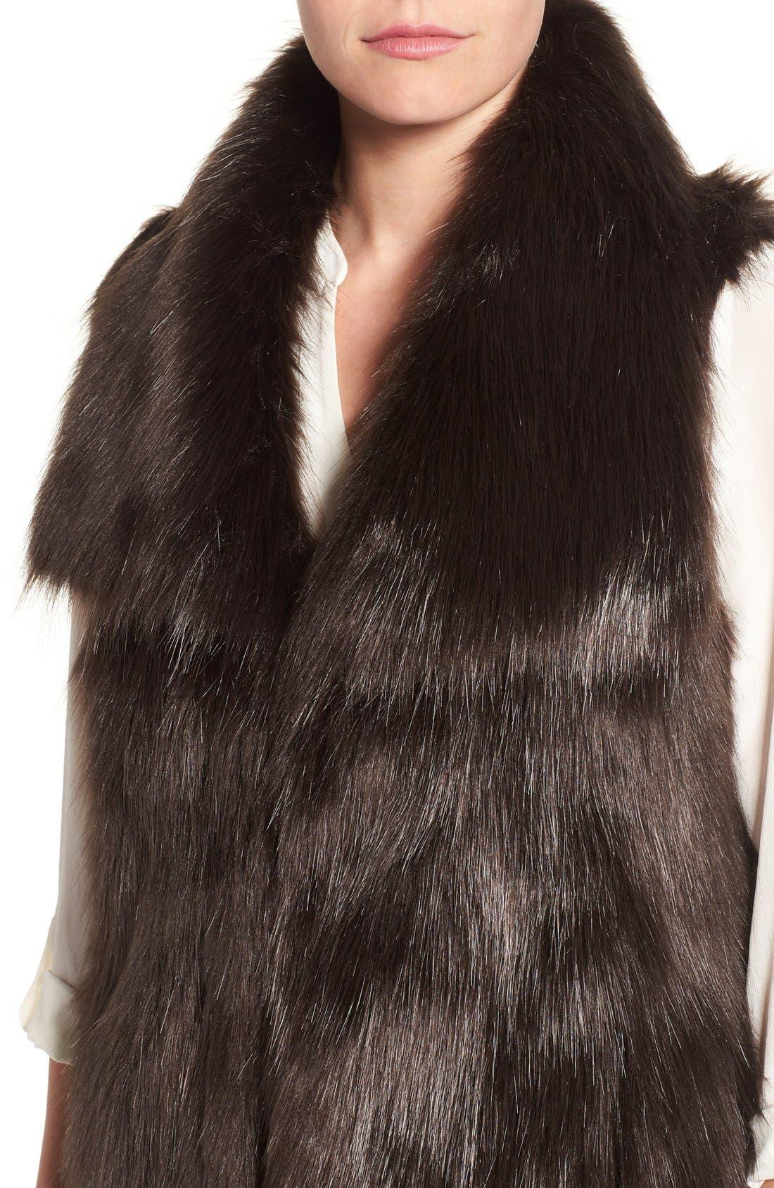 Faux Fur Vest,                             Alternate thumbnail 15, color,