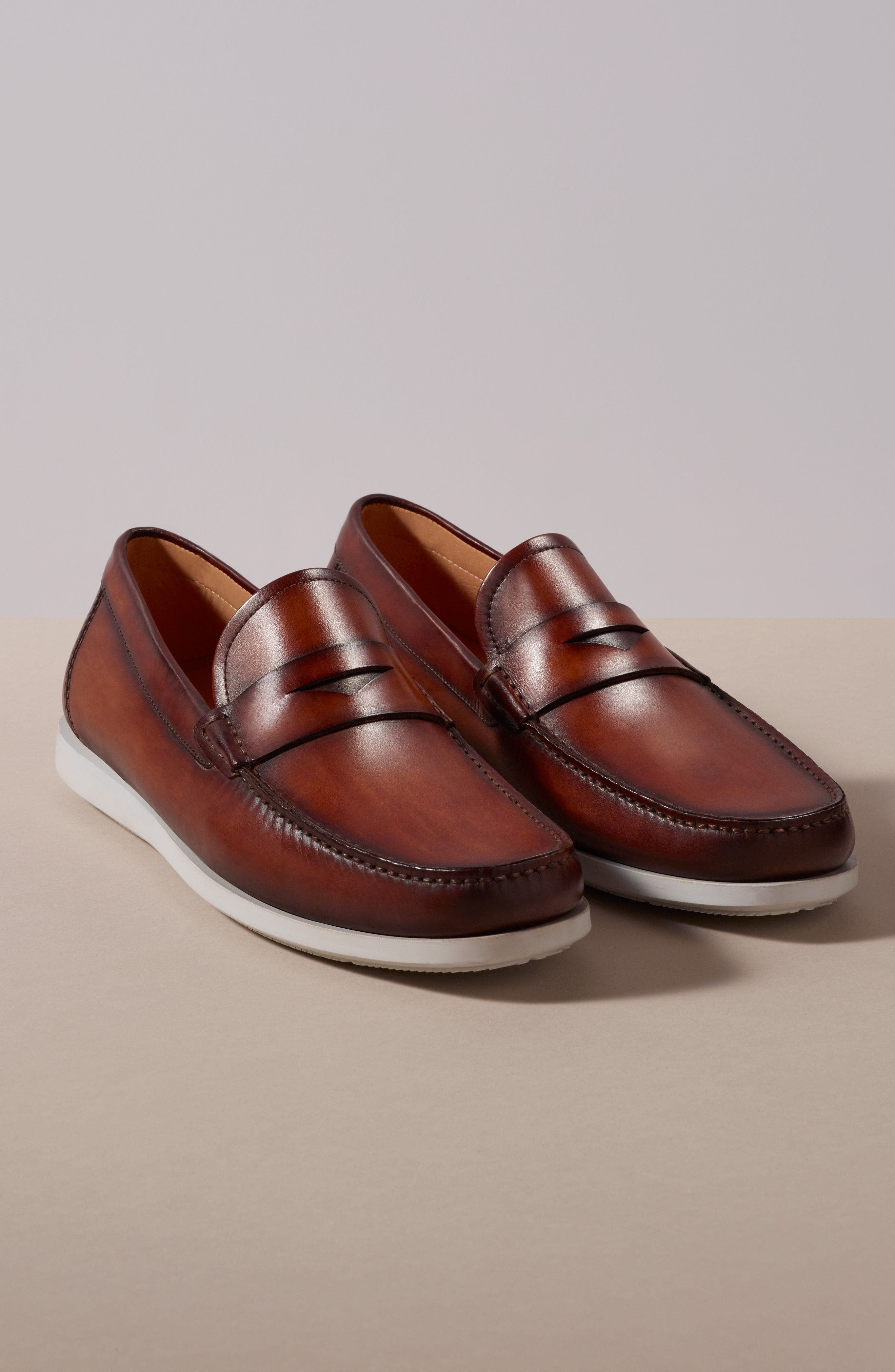Laguna Penny Loafer,                             Alternate thumbnail 8, color,                             MID-BROWN LEATHER