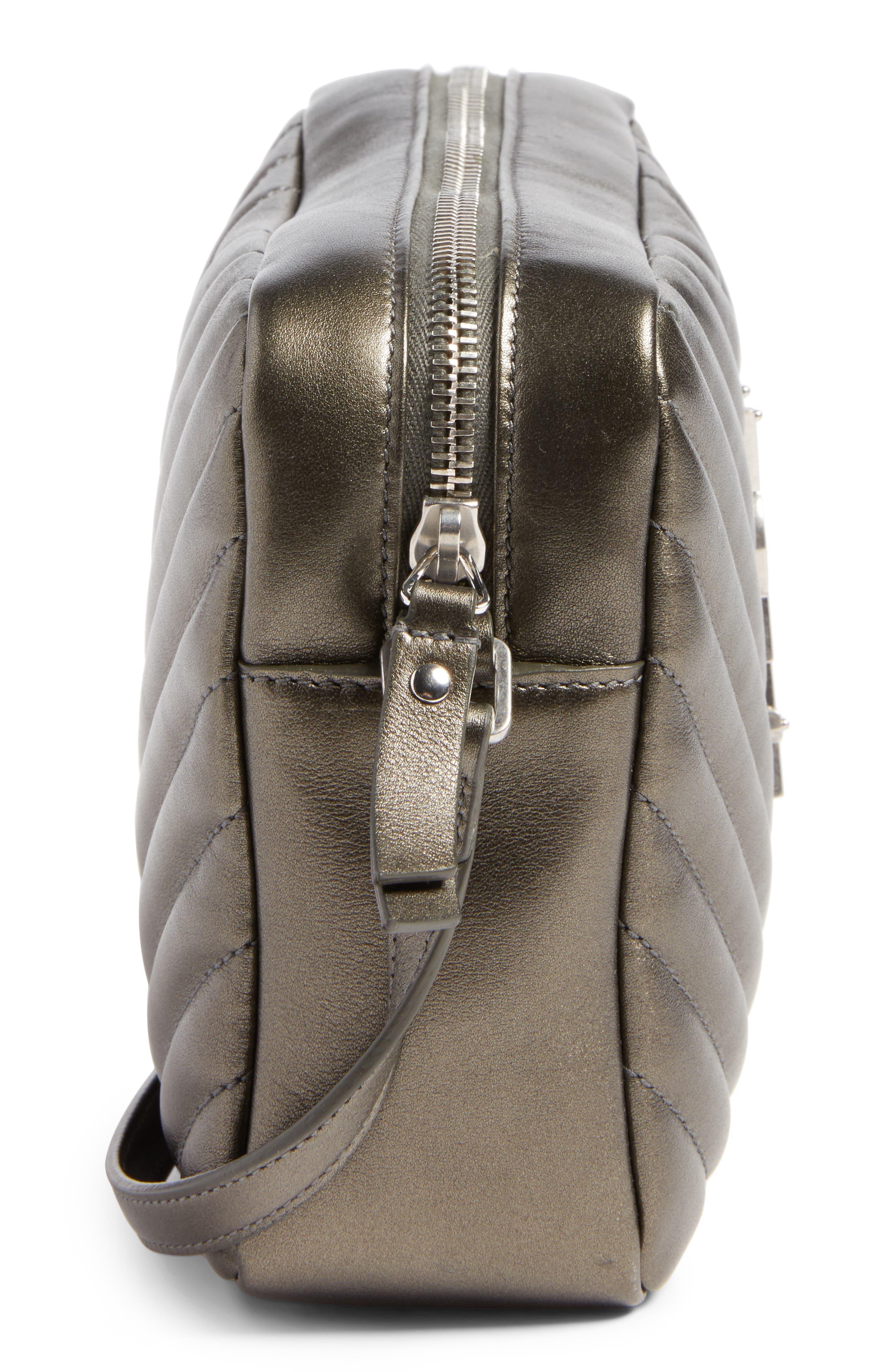 Medium Lou Calfskin Leather Camera Bag,                             Alternate thumbnail 5, color,                             020