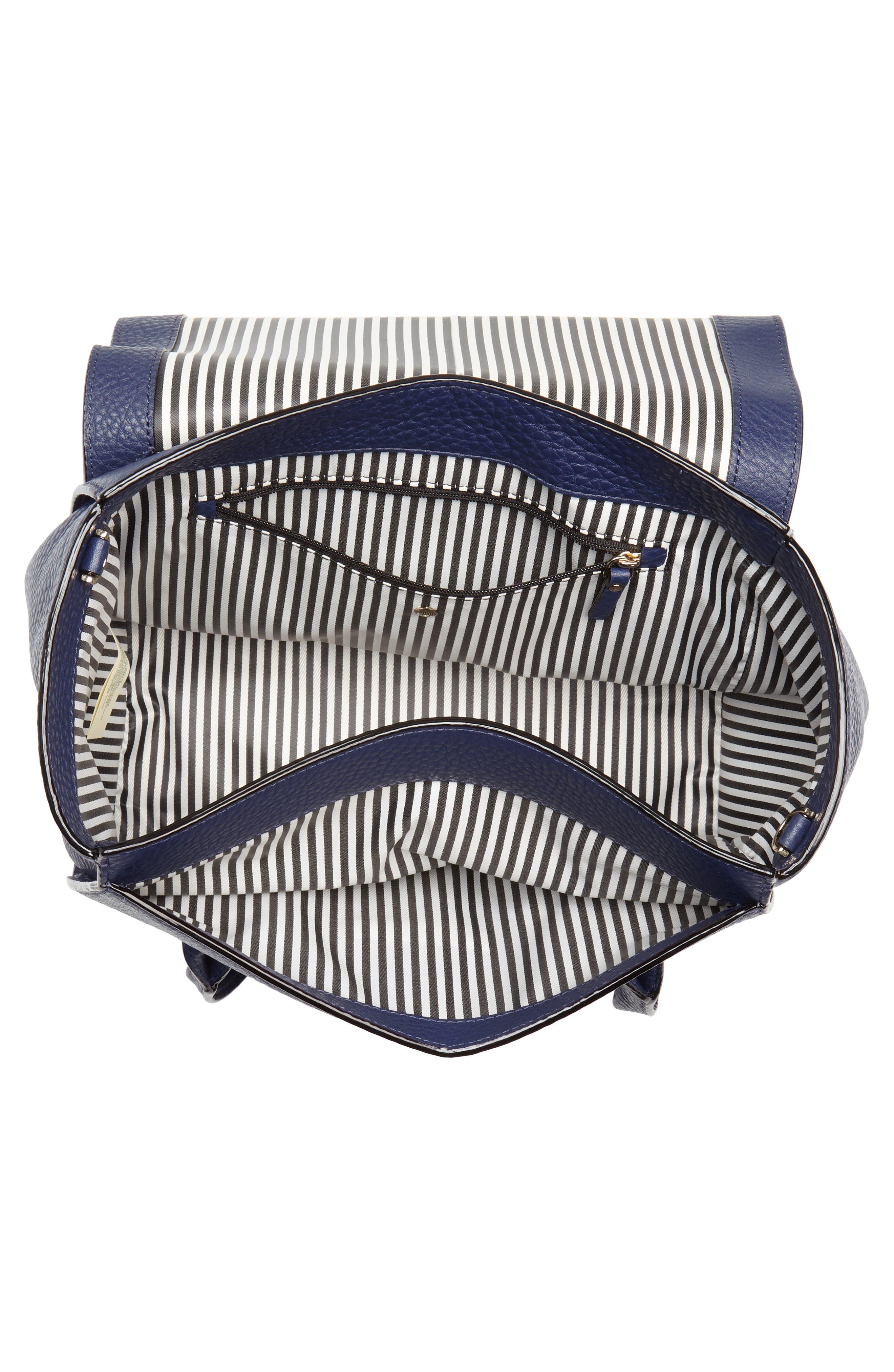 carlyle street - alexa leather satchel,                             Alternate thumbnail 8, color,