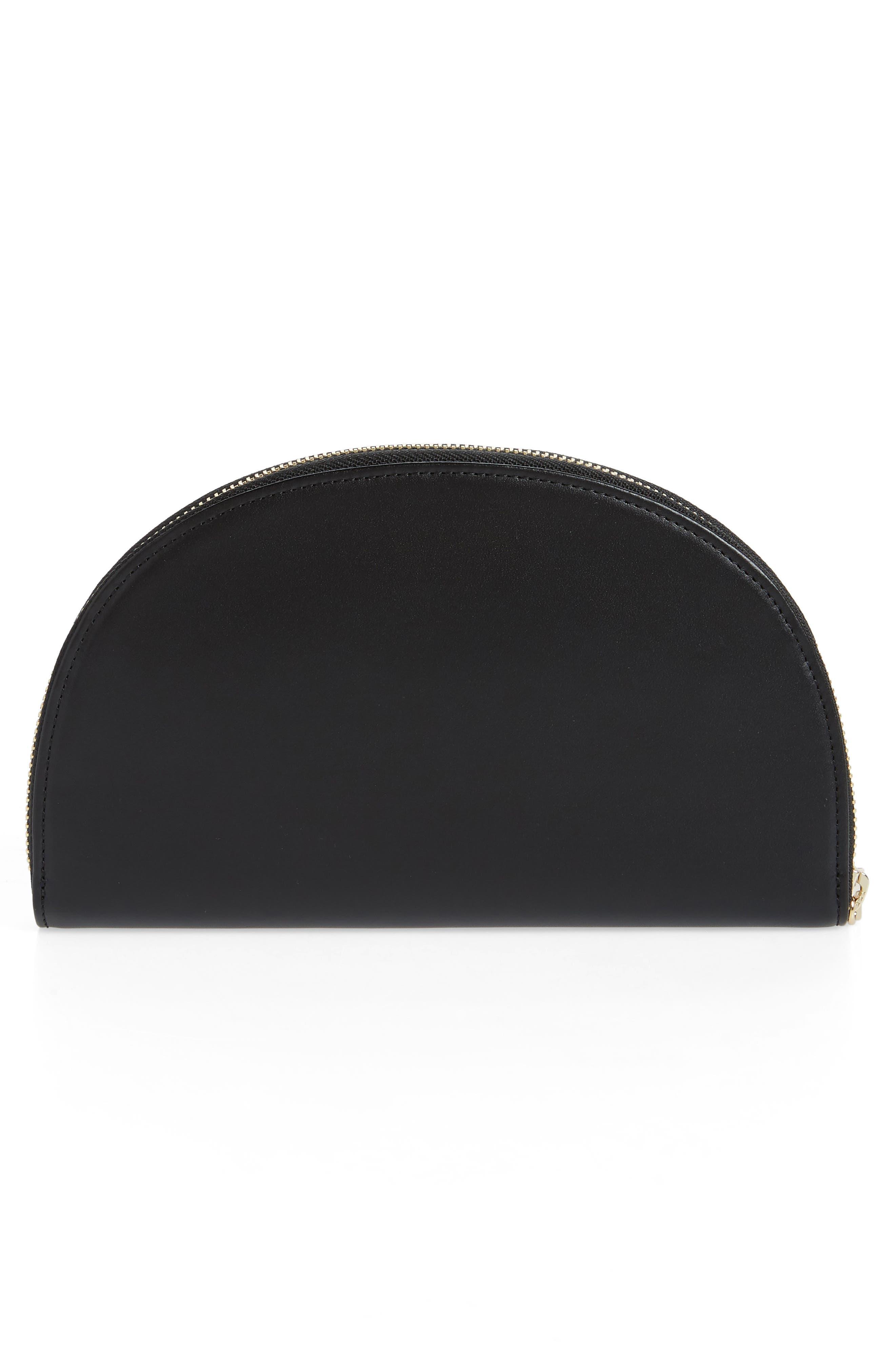 Dia Continental Mirror Wallet,                             Alternate thumbnail 3, color,                             TRUE BLACK