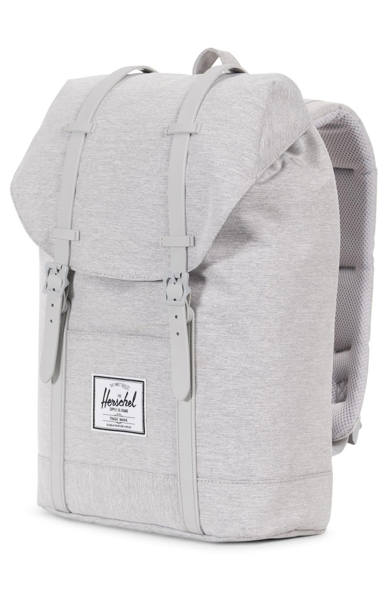 Retreat Backpack,                             Alternate thumbnail 4, color,                             LIGHT GREY CROSSHATCH/ GREY