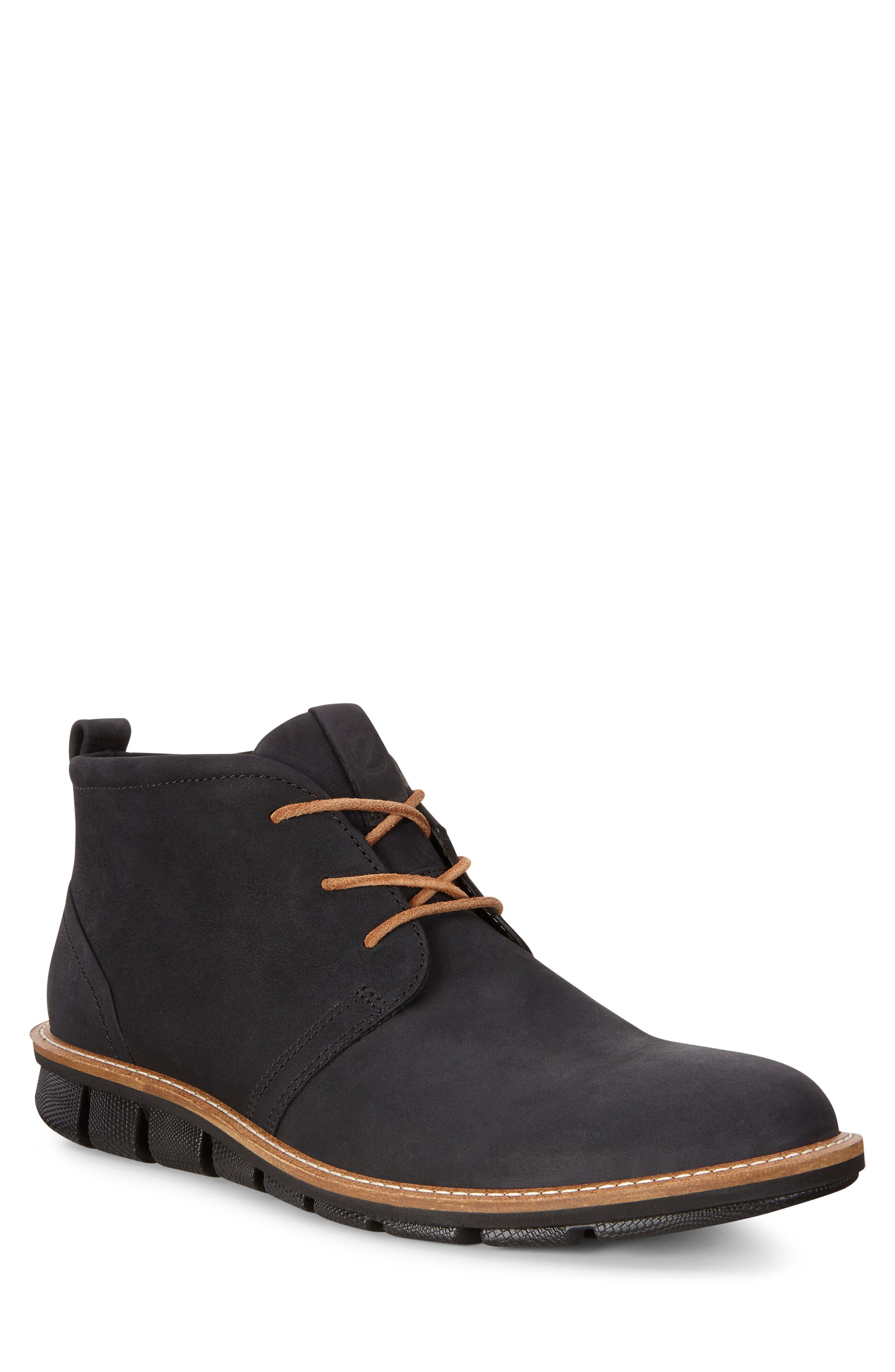'Jeremy Hybrid' Plain Toe Boot,                             Main thumbnail 1, color,                             BLACK LEATHER