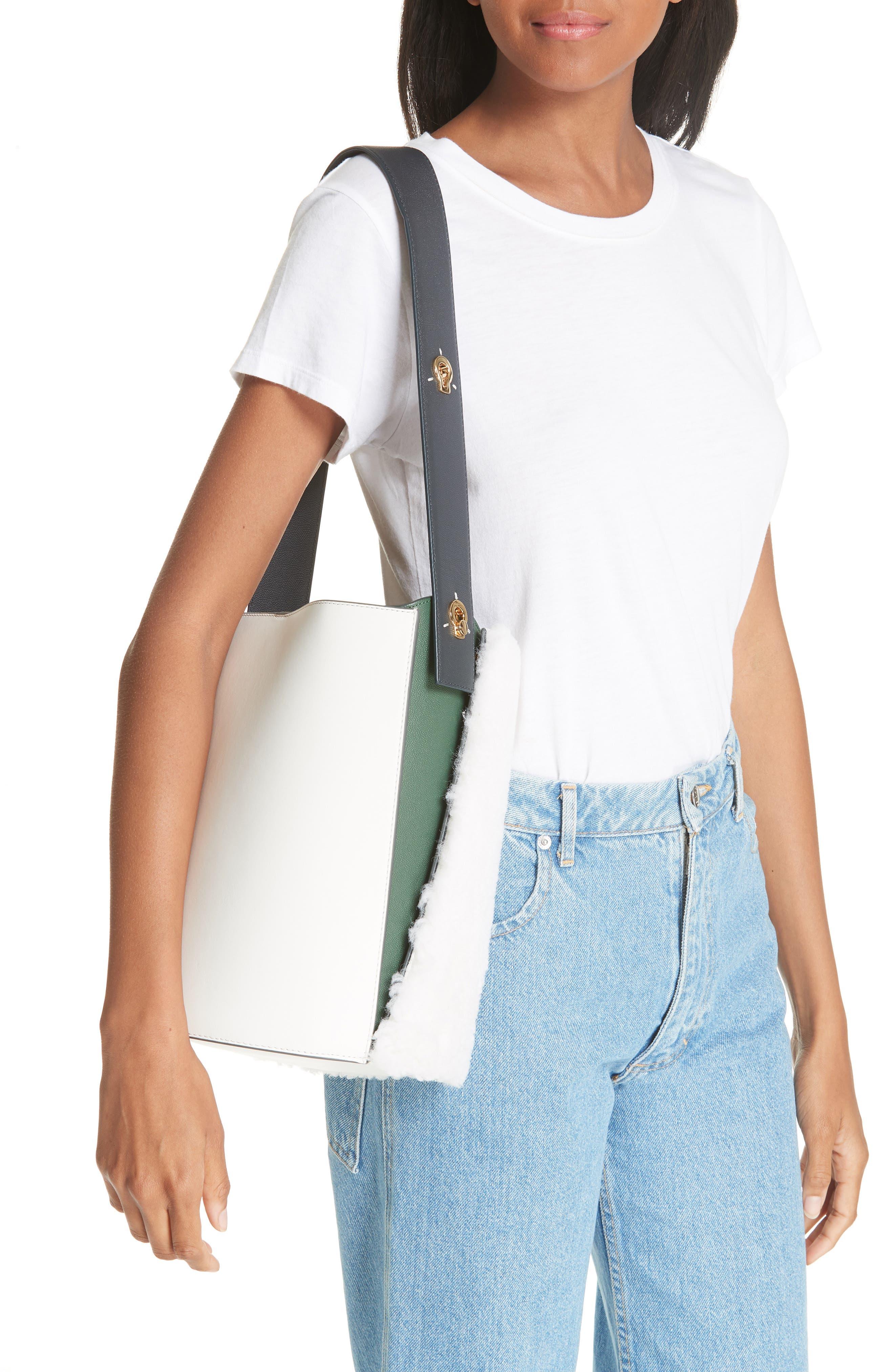 Mini Lorna Leather Bucket Bag,                             Alternate thumbnail 2, color,                             100