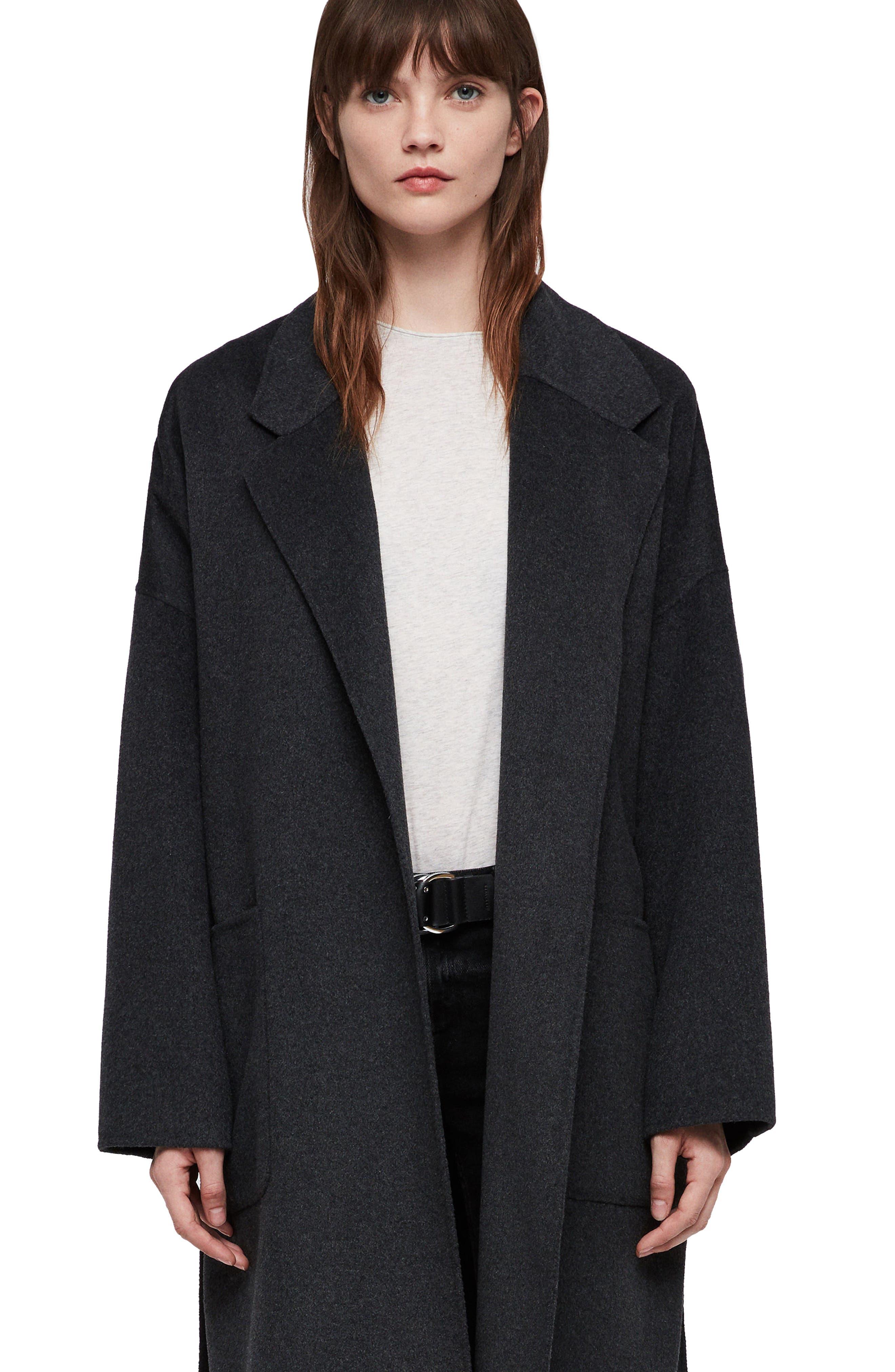 Lara Long Coat,                             Alternate thumbnail 4, color,                             078