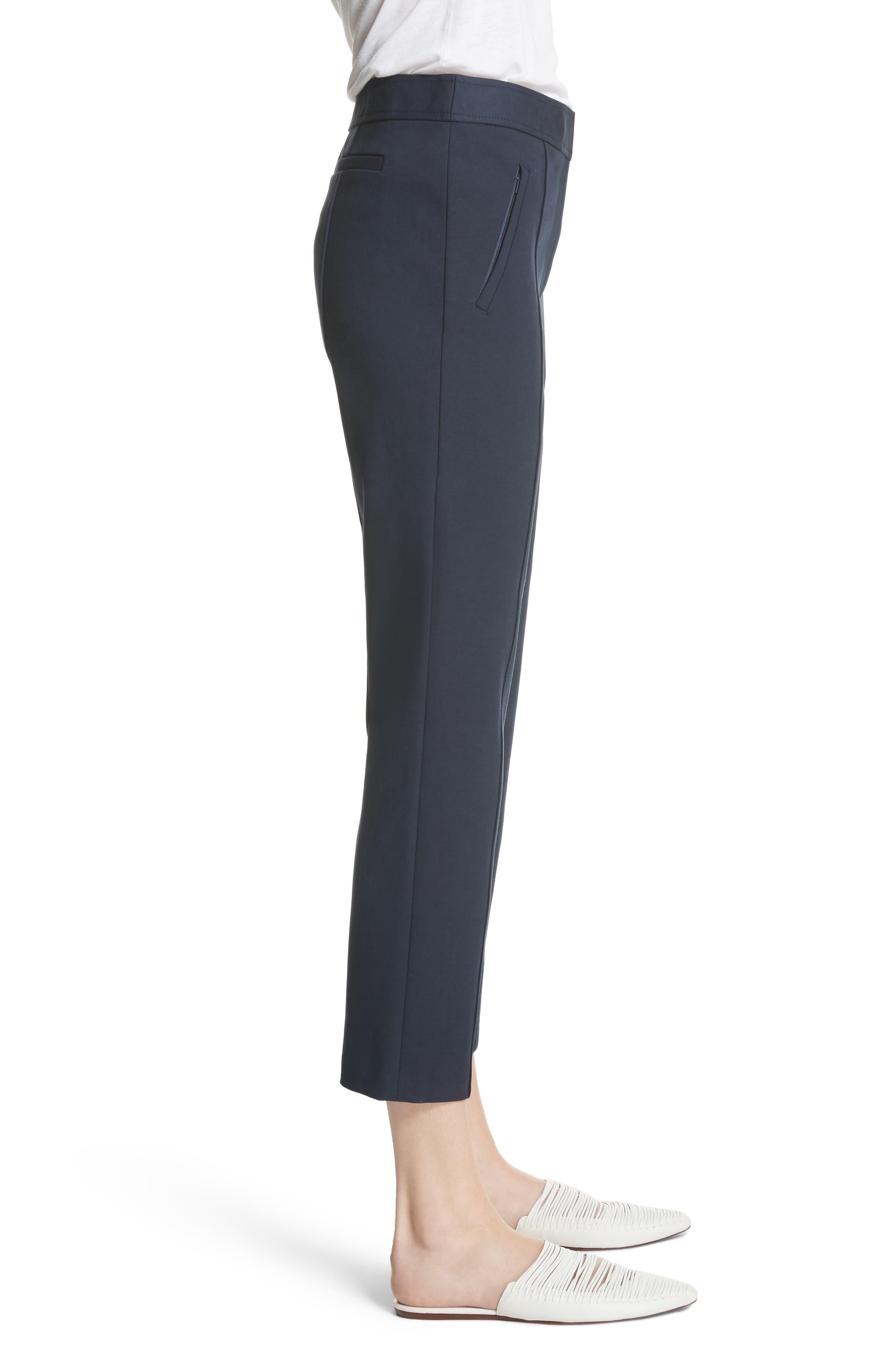 Vanner Slim Leg Ankle Pants,                             Alternate thumbnail 3, color,                             TORY NAVY